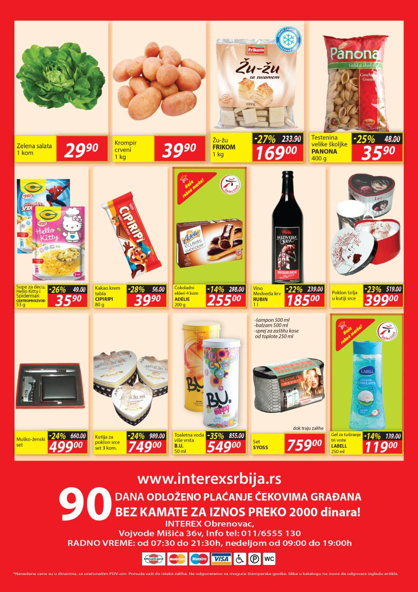 Interex katalog najpovoljnie cene u Obrenovcu