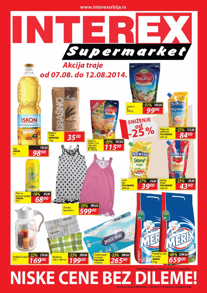 Interex akcija nedelja super cena