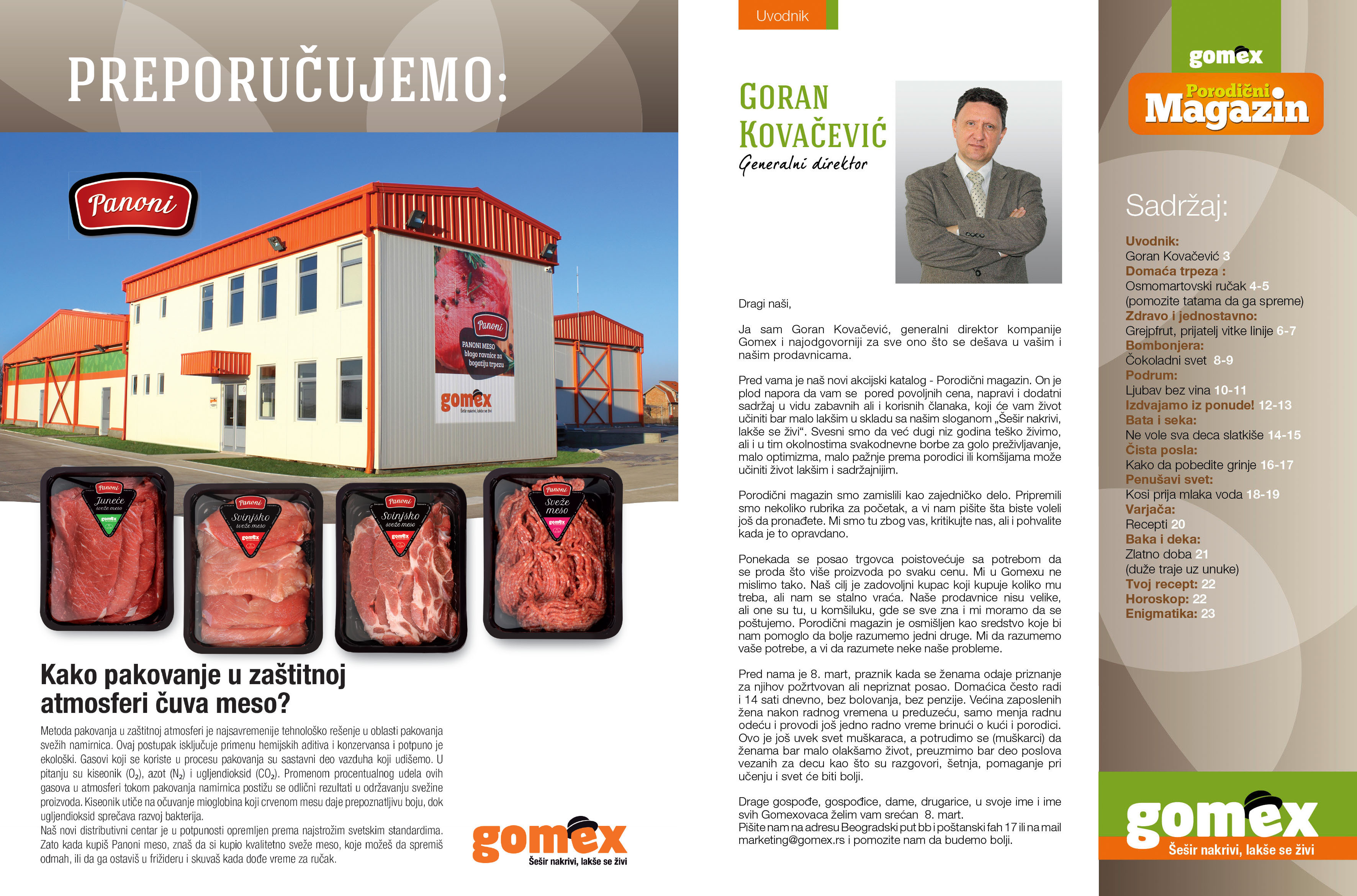 Gomex katalog porodični magazin