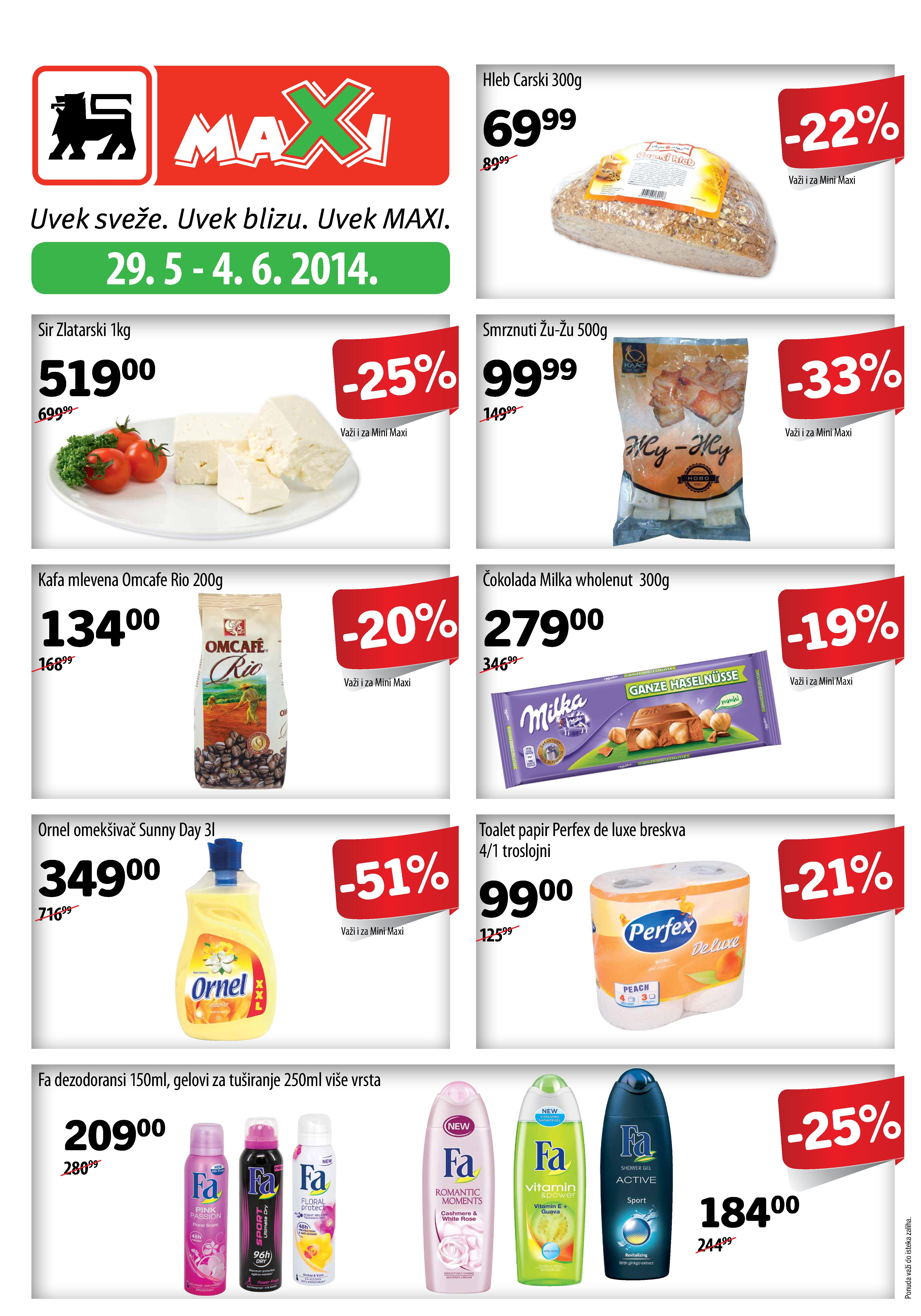 Maxi akcija nedelja sjajnih cena