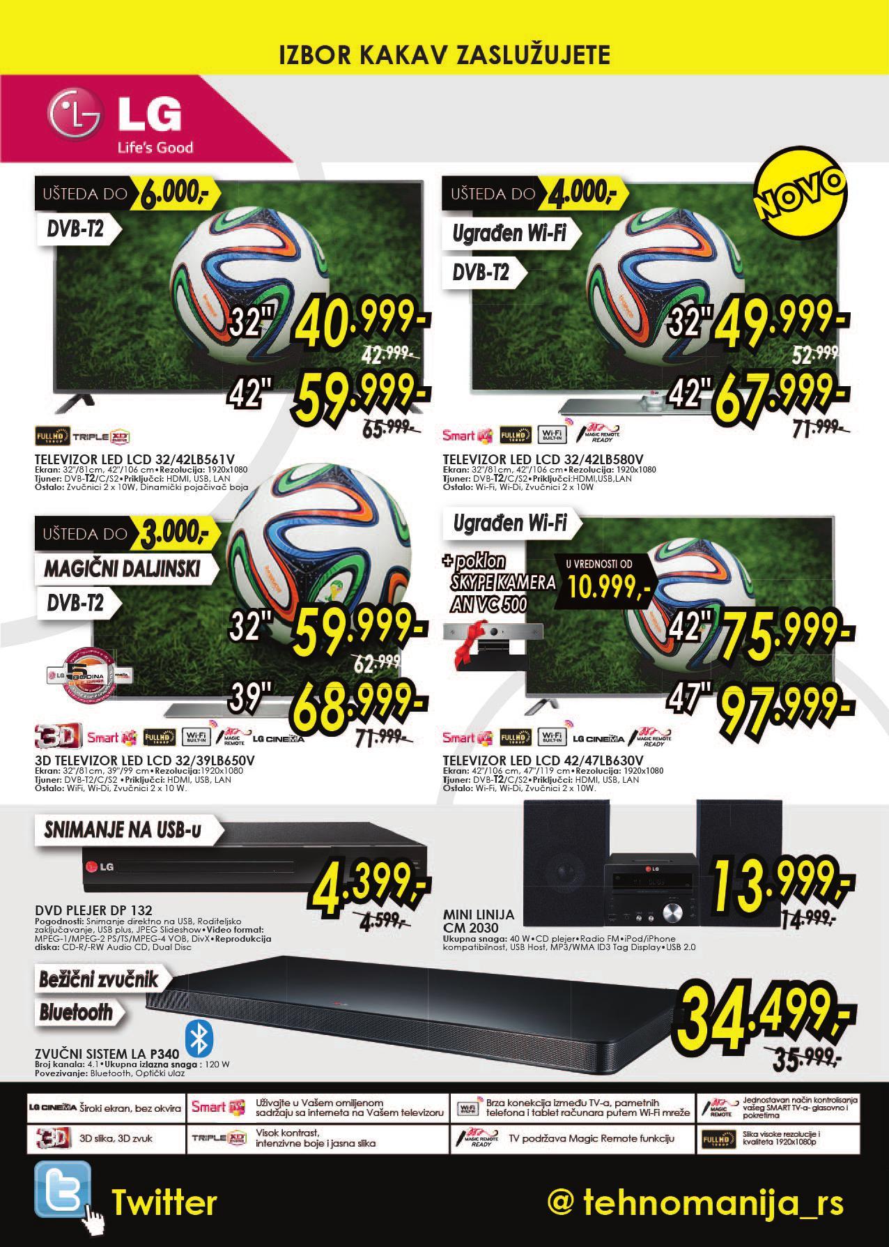 Tehnomanija akcija LG uređaji po super ceni
