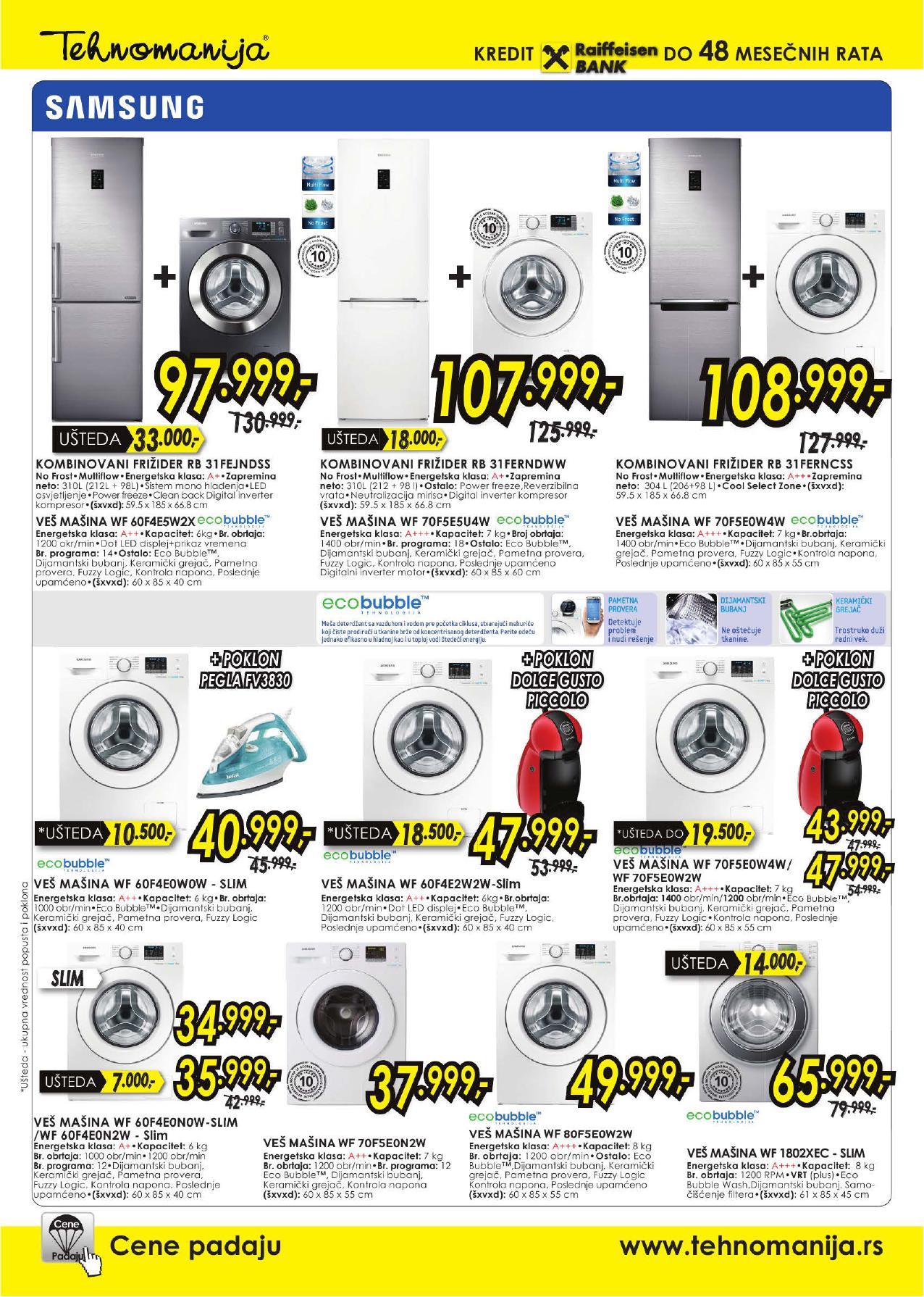 Tehnomanija katalog specijalna ponuda Samsung uređaja