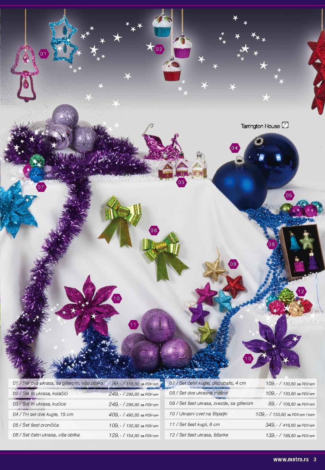 Metro katalog novogodišnji ukrasi