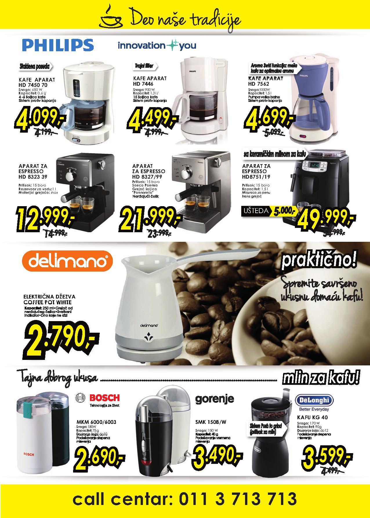 Tehnomanija akcija kafe aparata