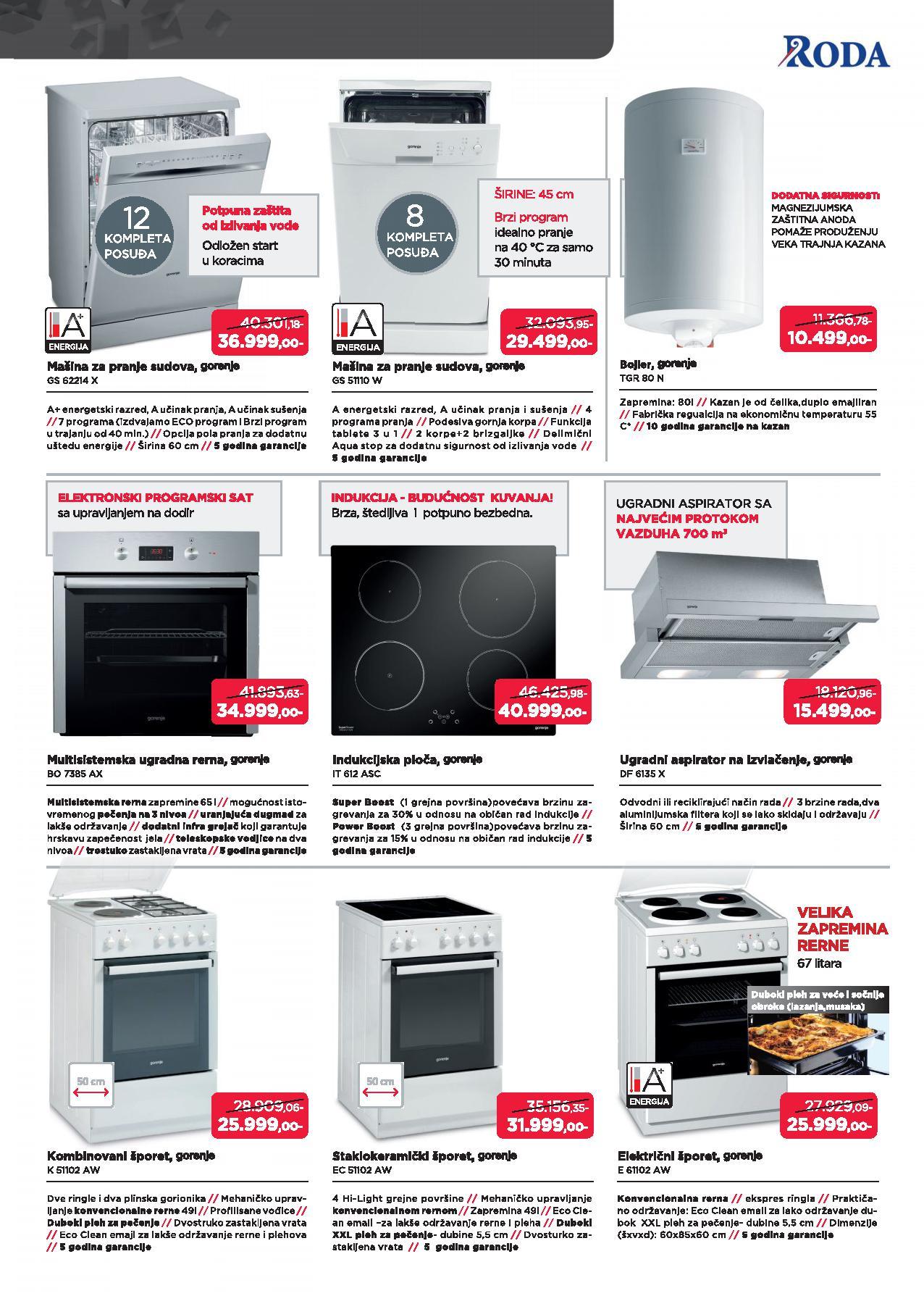 Roda katalog odlična ponuda Gorenje proizvoda