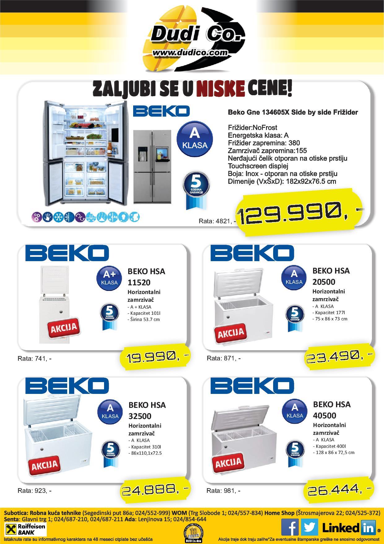 Dudico akcija niske cene frižidera