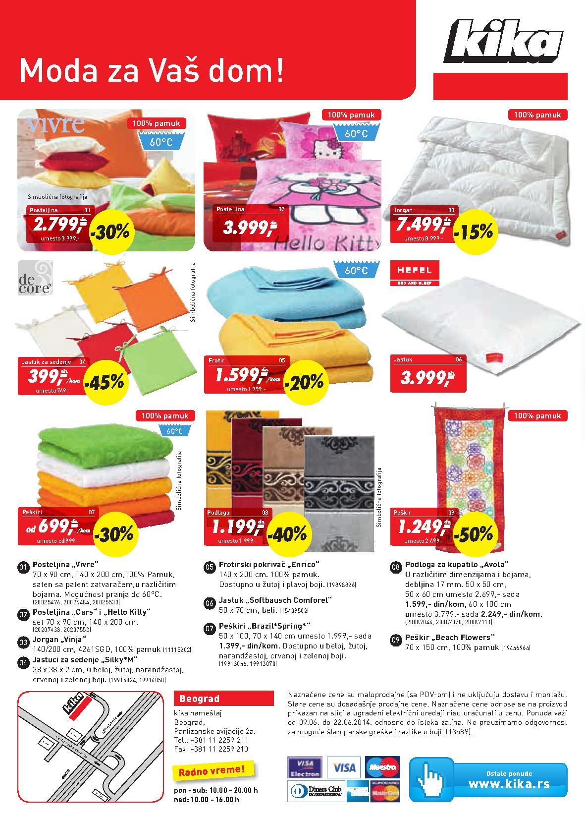 Kika akcija kućni tekstil po super ceni