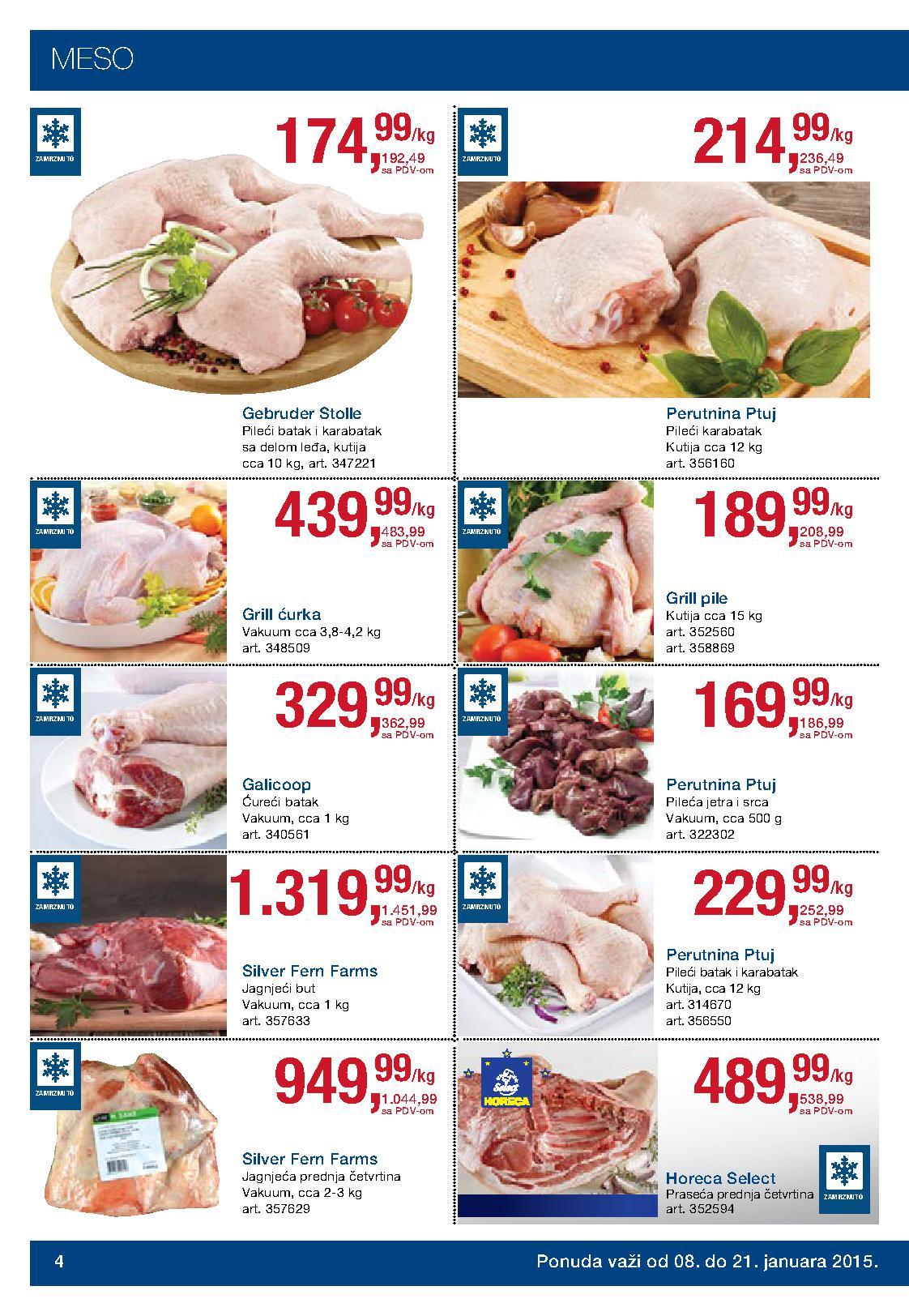 Metro akcija praznične cene prehrane