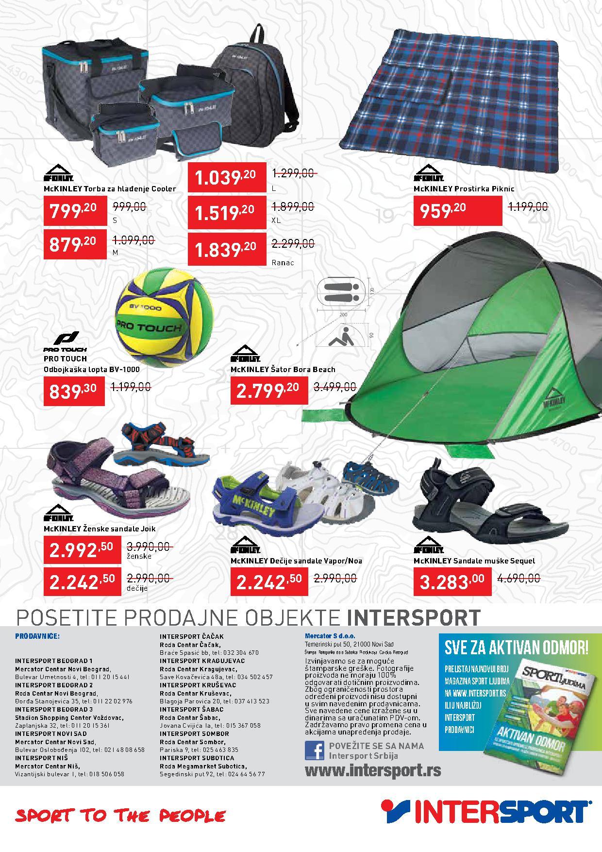 Intersport katalog letnje ponude