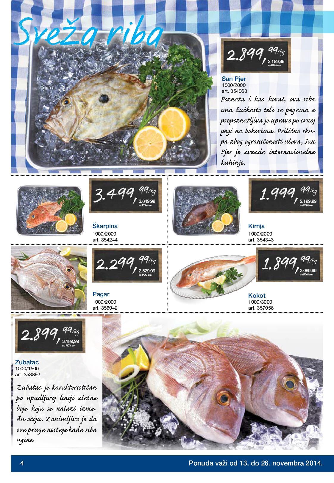 Metro akcija riba i plodovi mora na sniženju