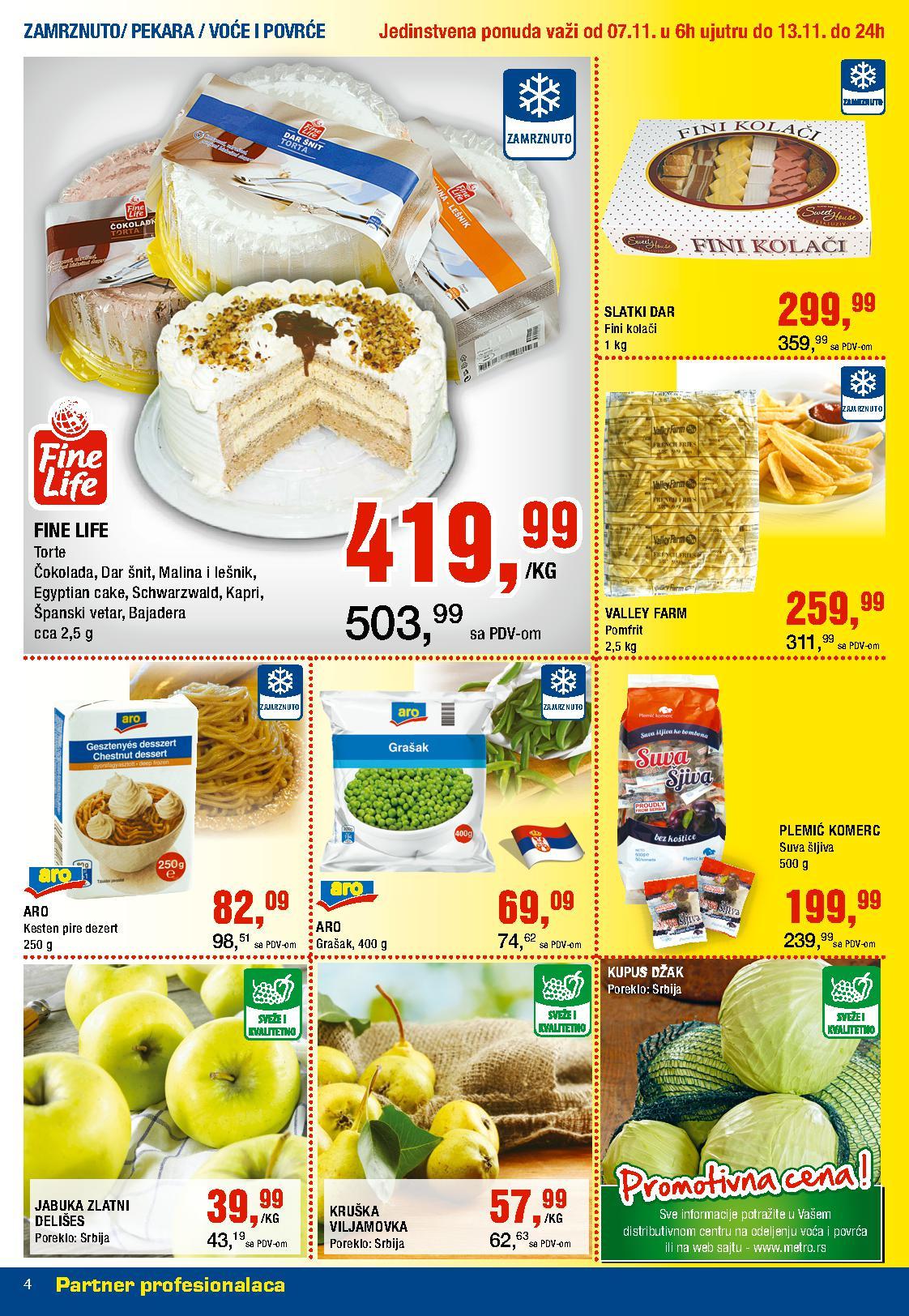 Metro katalog nedelja prehrane po super ceni