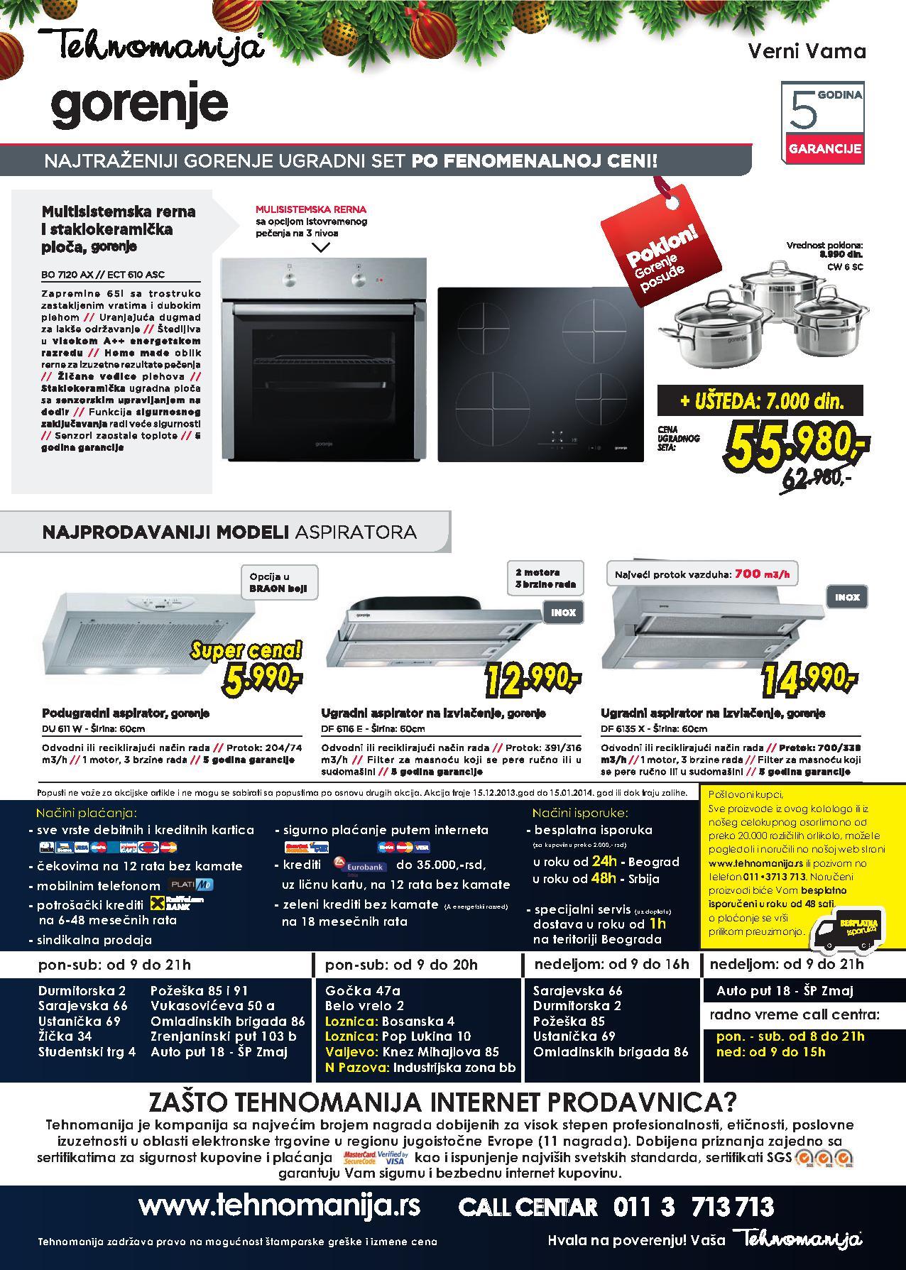 Tehnomanija katalog Gorenje proizvodi po super ceni