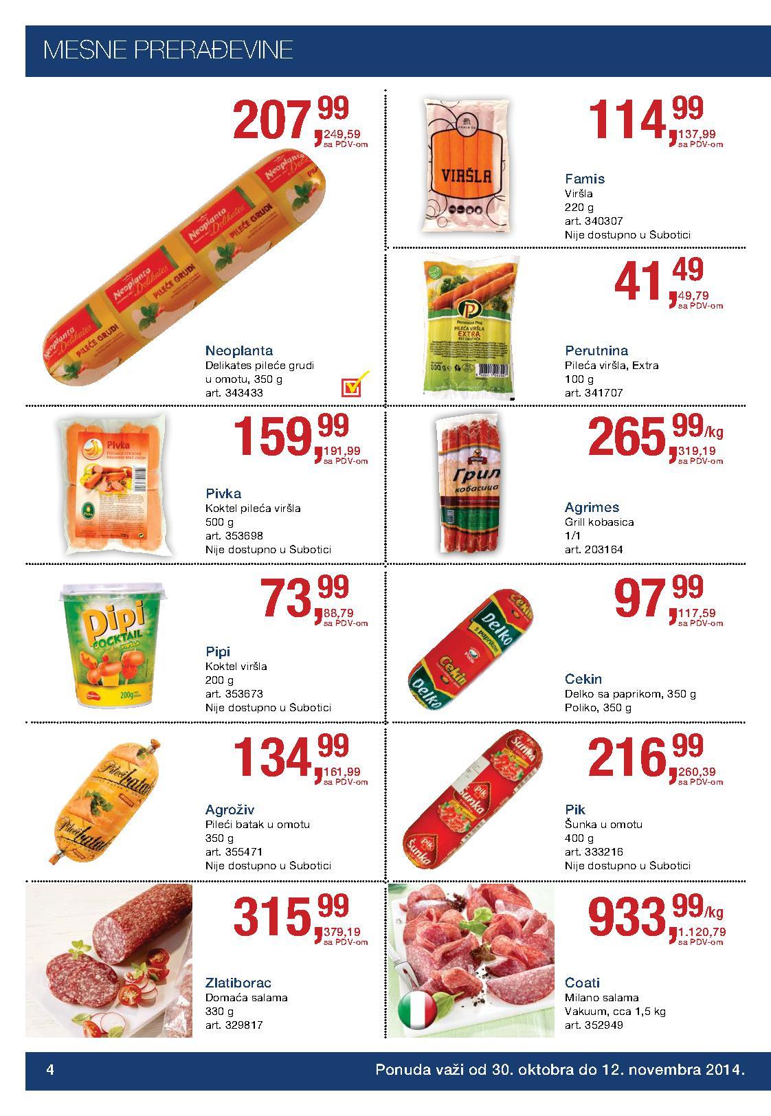 Metro akcija prehrana po sjajnim cenama