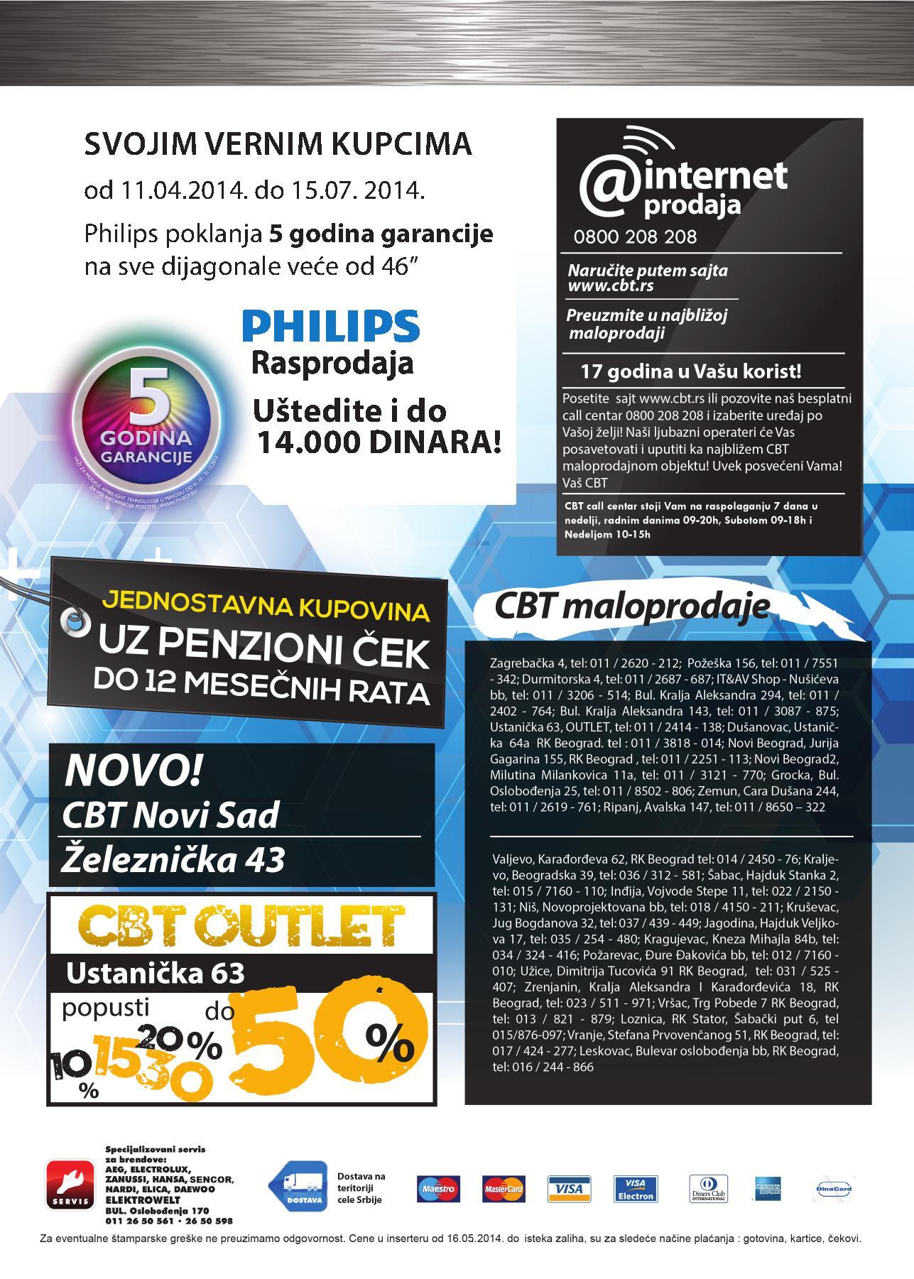 CBT akcija specijalna ponuda Philips uređaja