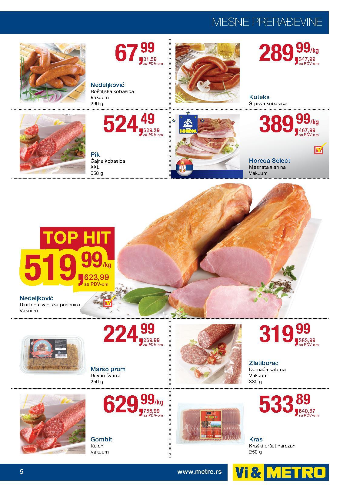 Metro akcija dobra ponuda prehrane
