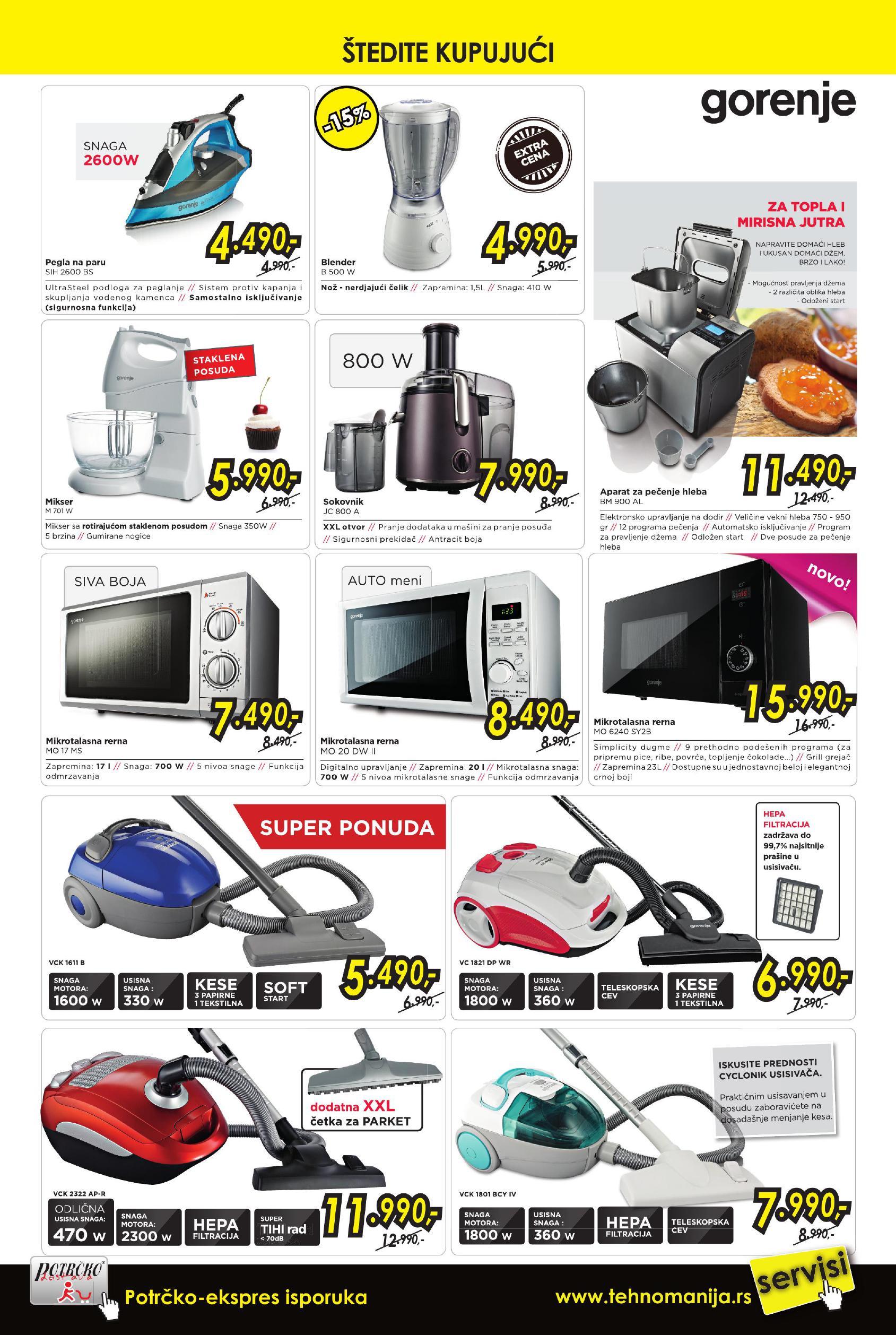 Tehnomanija akcija mali kućni aparati po sjajnoj ceni