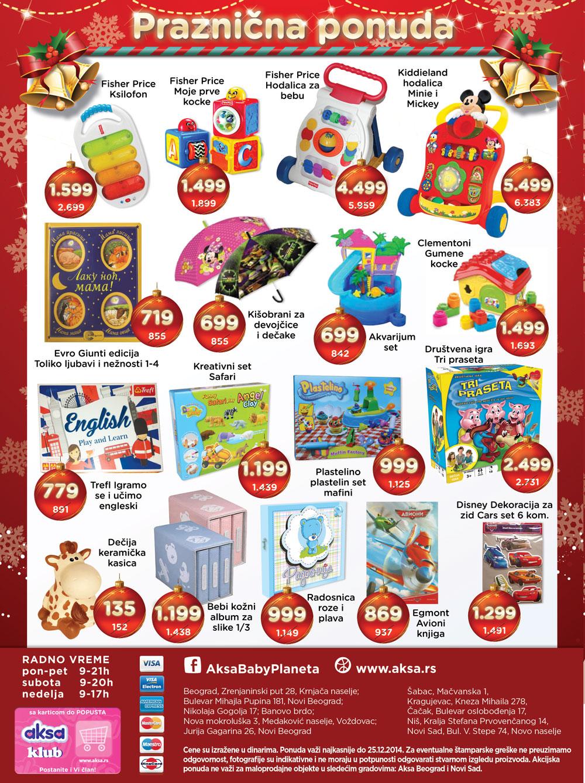 Aksa akcija decembarska ponuda je spremna