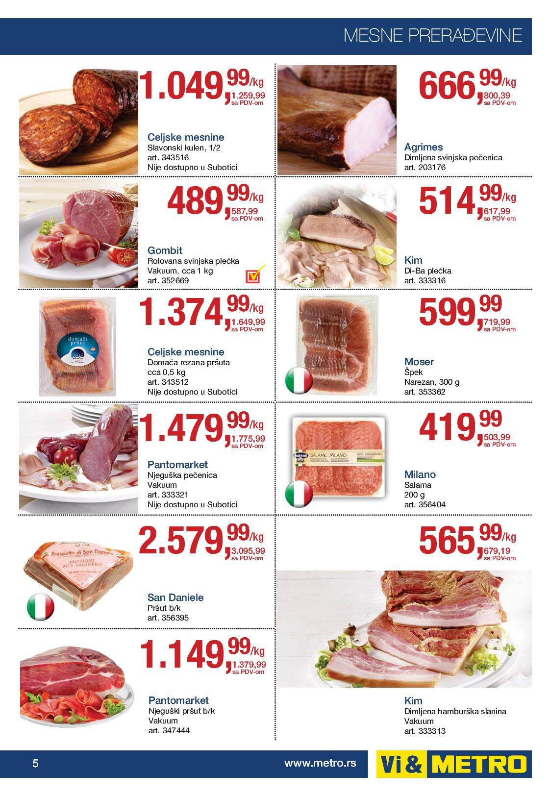 Metro akcija odlična cena prehrane za vas