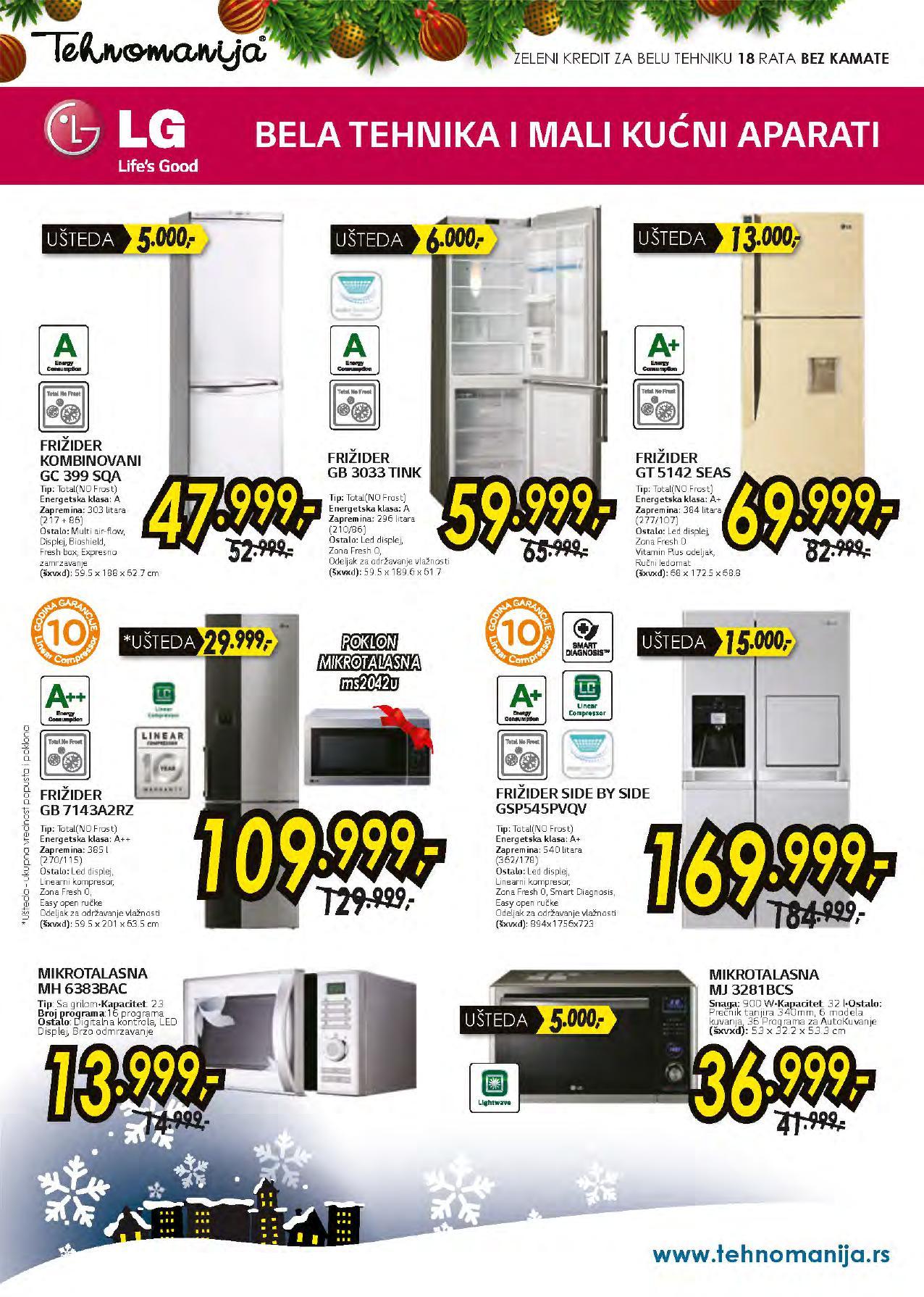 Tehnomanija katalog LG proizvodi po super ceni