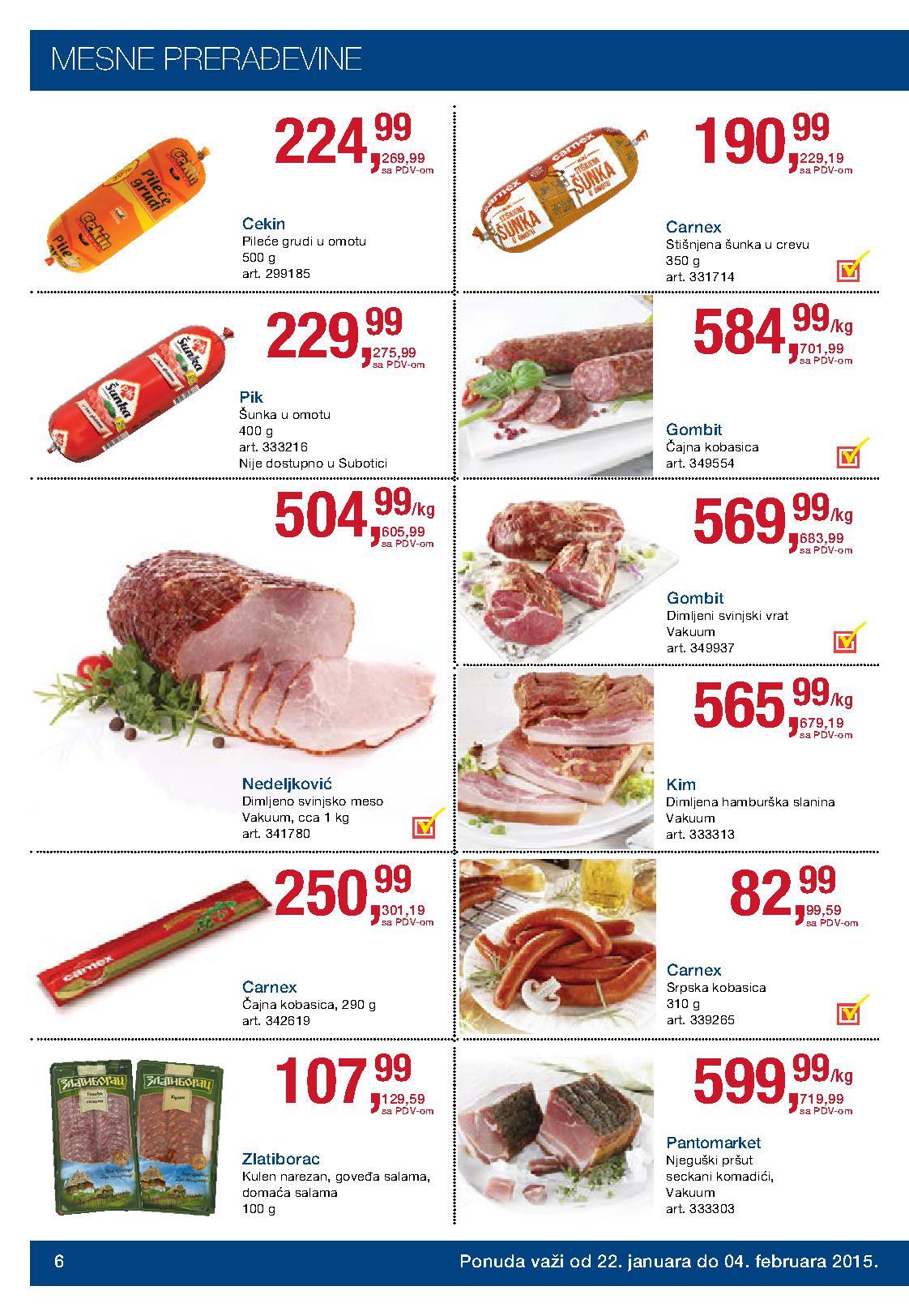Metro akcija sjajne cece prehrane za vas