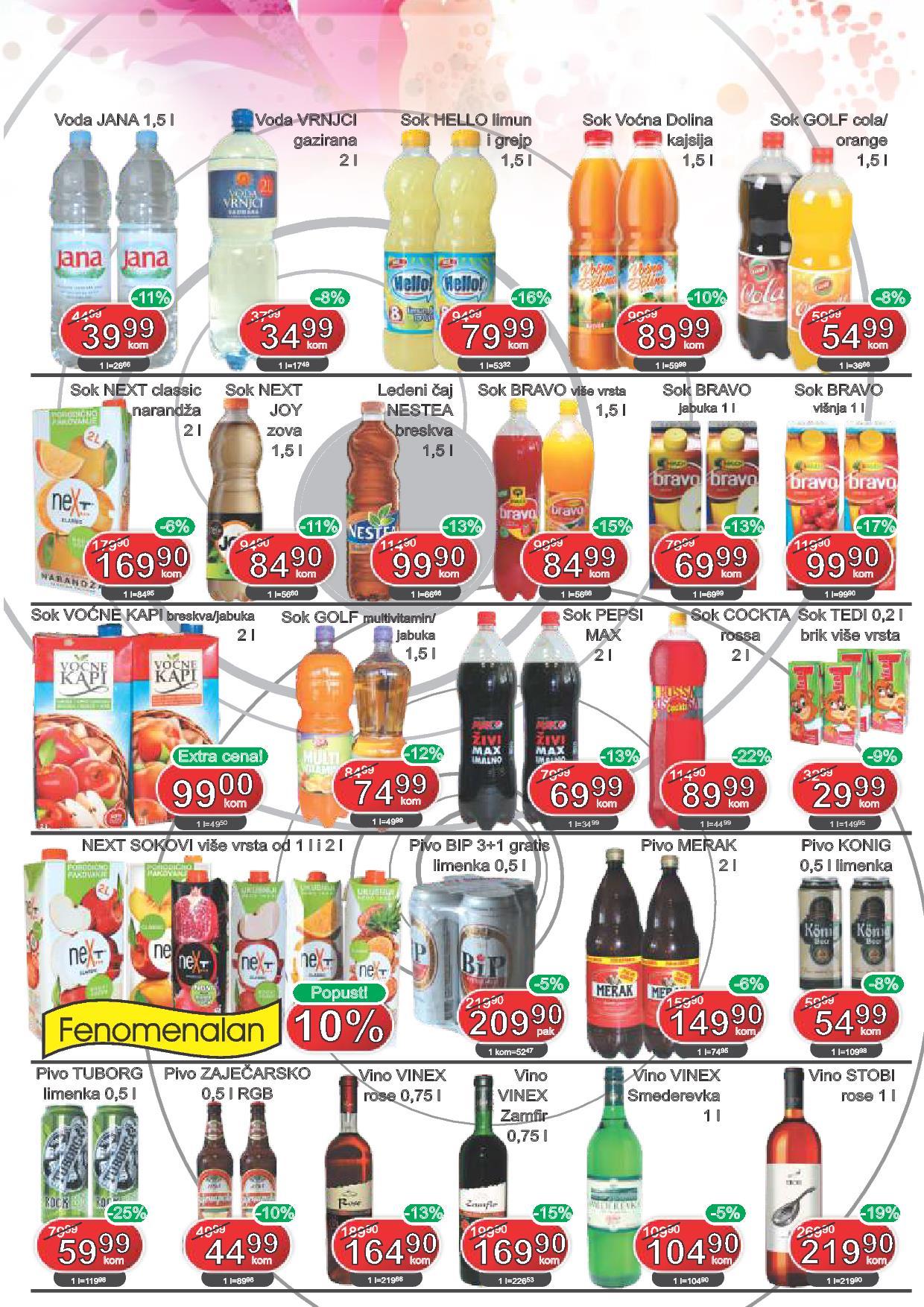 Fortuna market akcija super cena