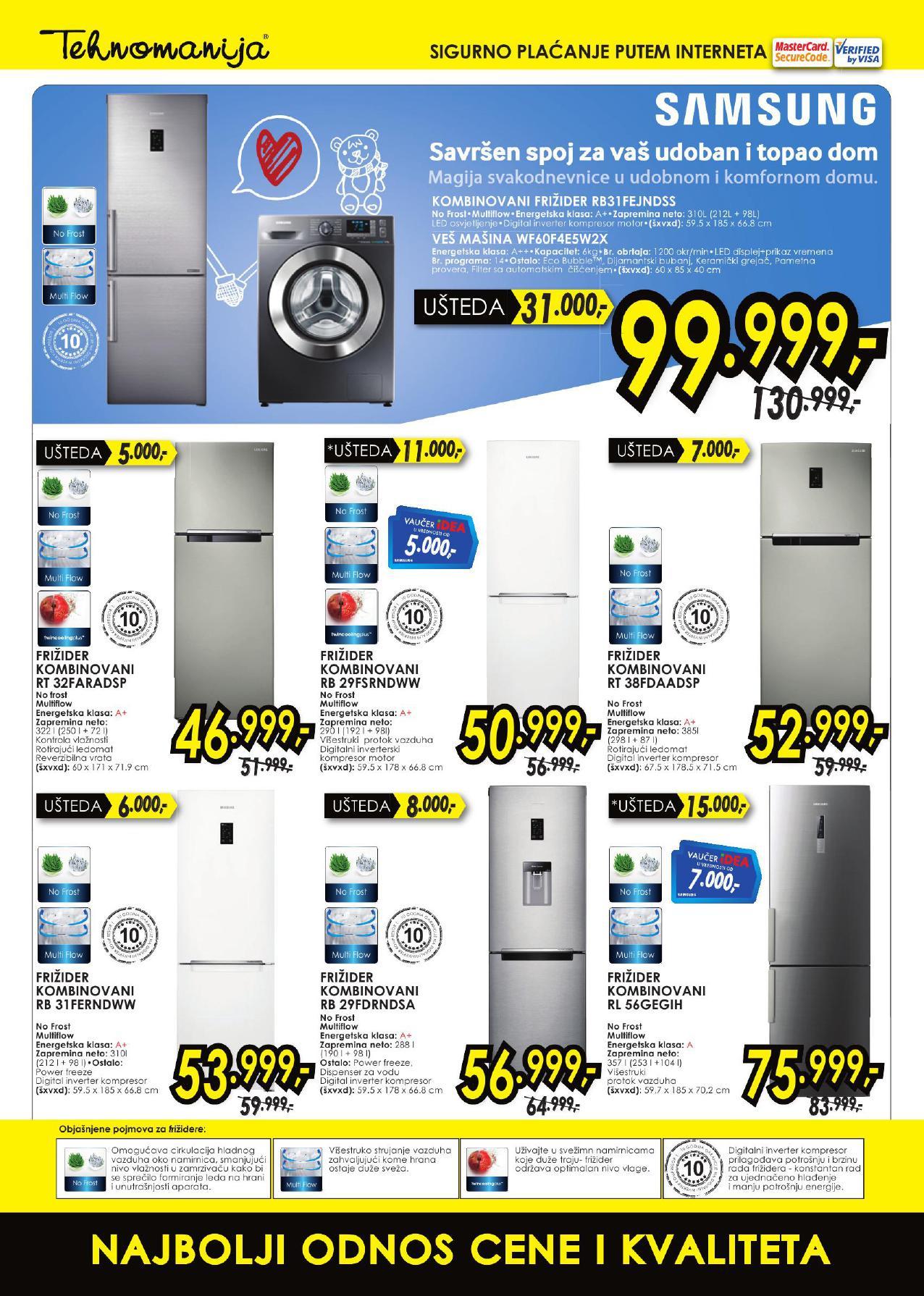 Tehnomanija katalog super ponuda Samsung uređaja