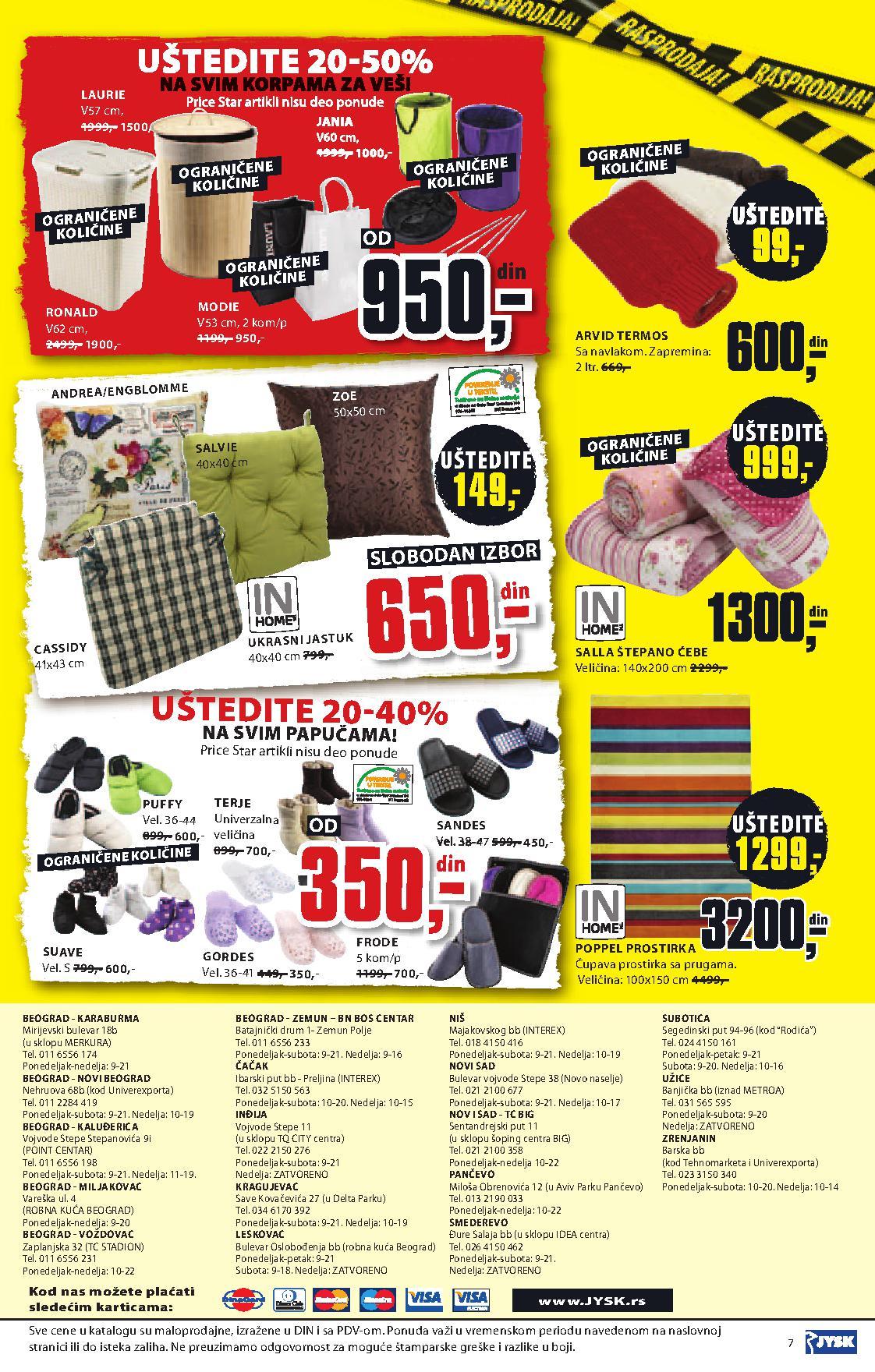 JYSK katalog novogodišnje rasprodaje
