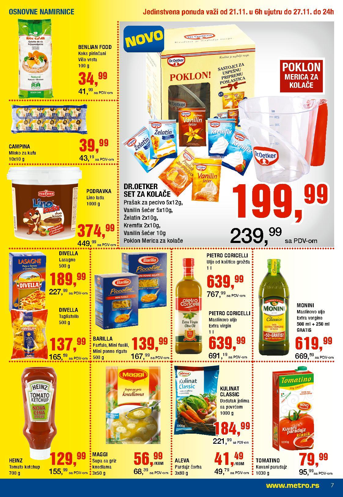 Metro katalog odlična ponuda prehrane
