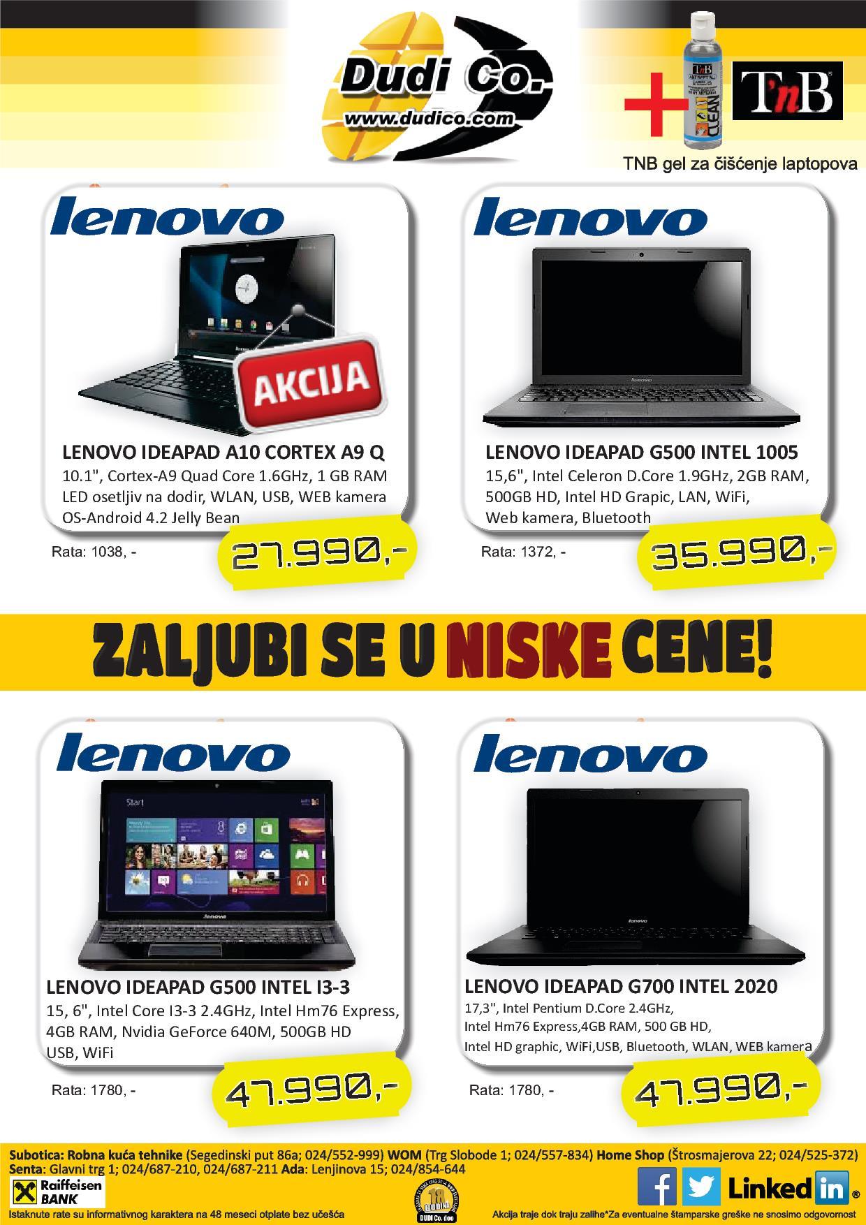 Dudico akcija laptop uređaja