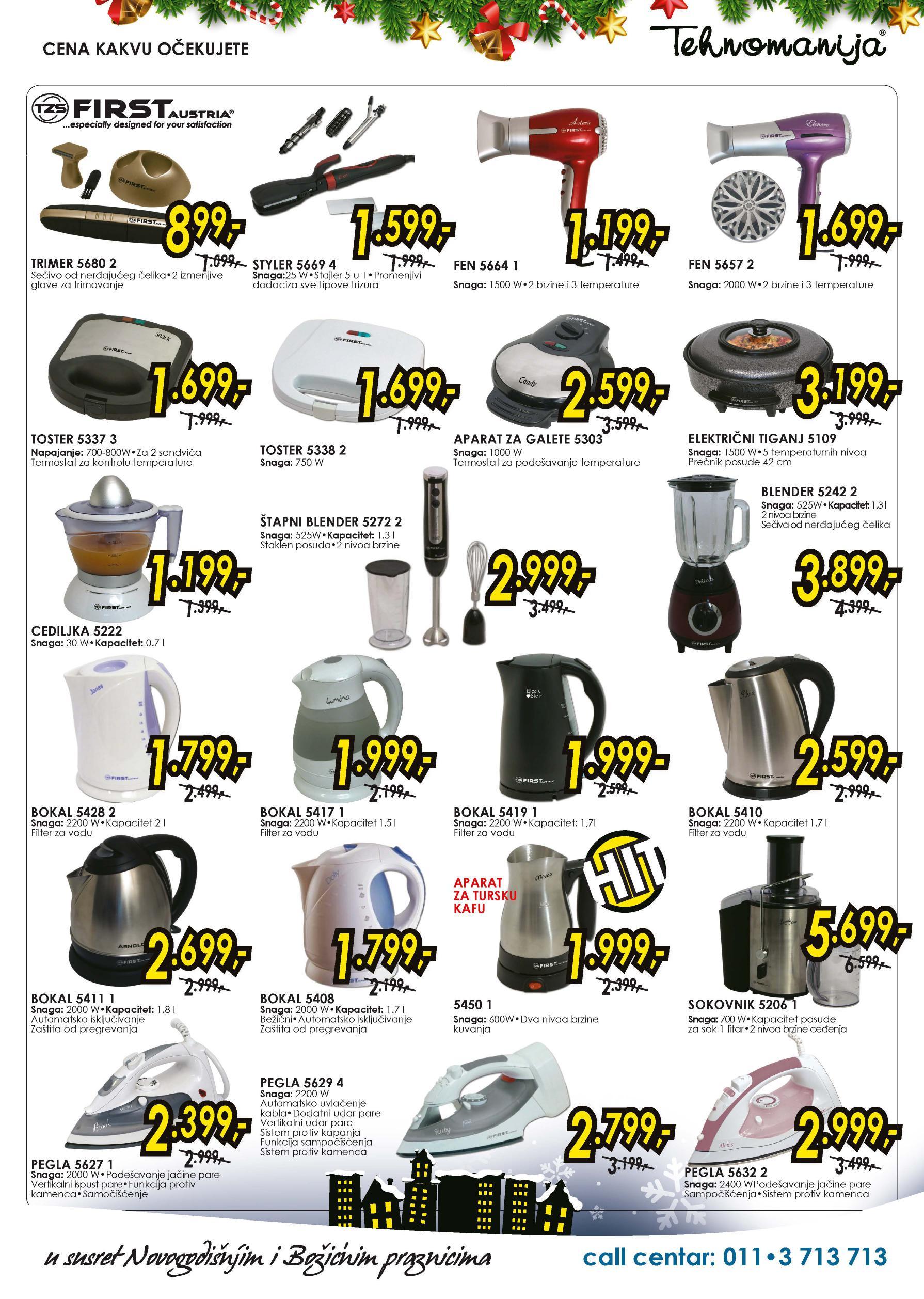 Tehnomanija katalog veliko sniženje malih kućnih aparata