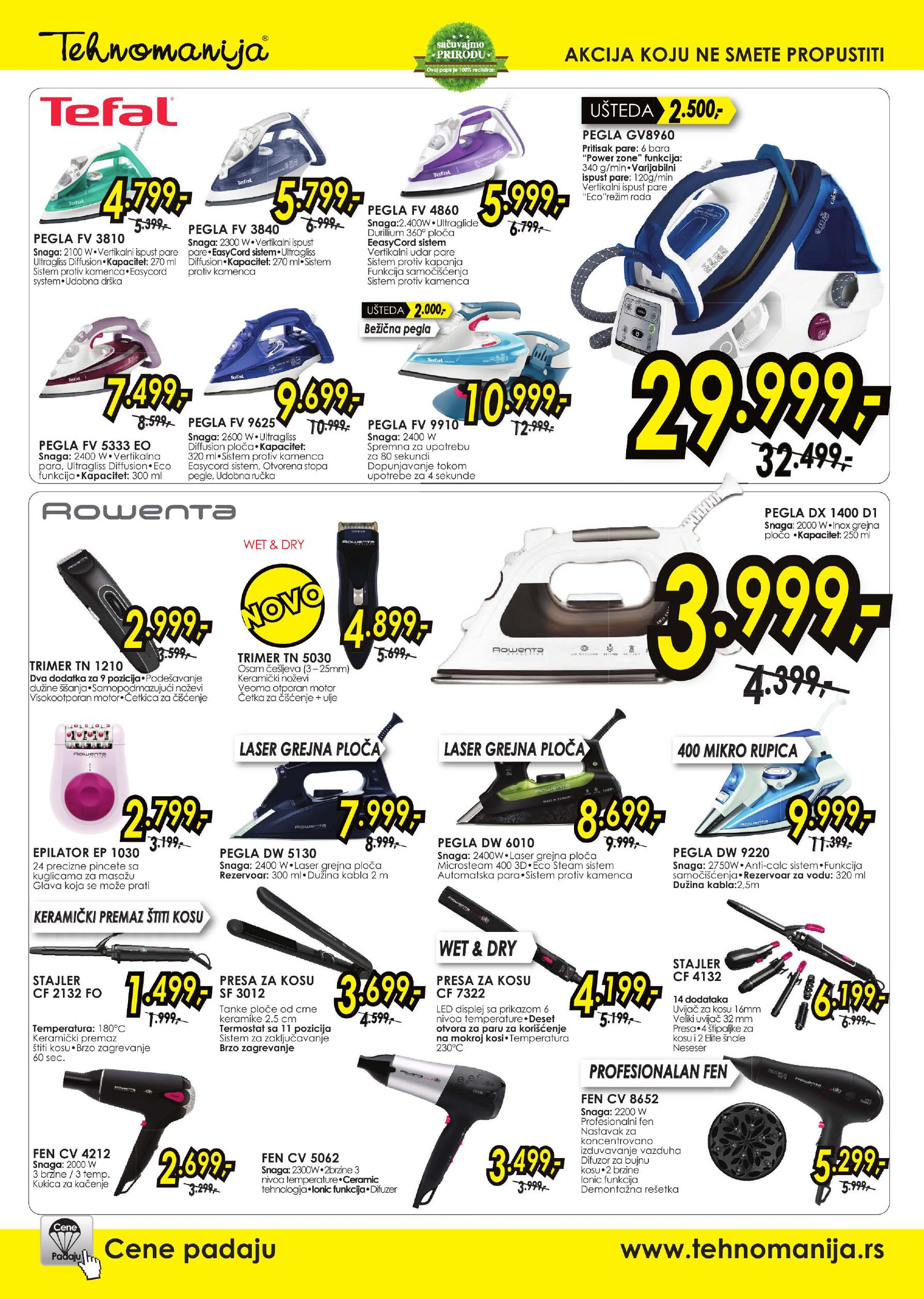 Tehnomanija katalog malinih kućnih aparata po super ceni