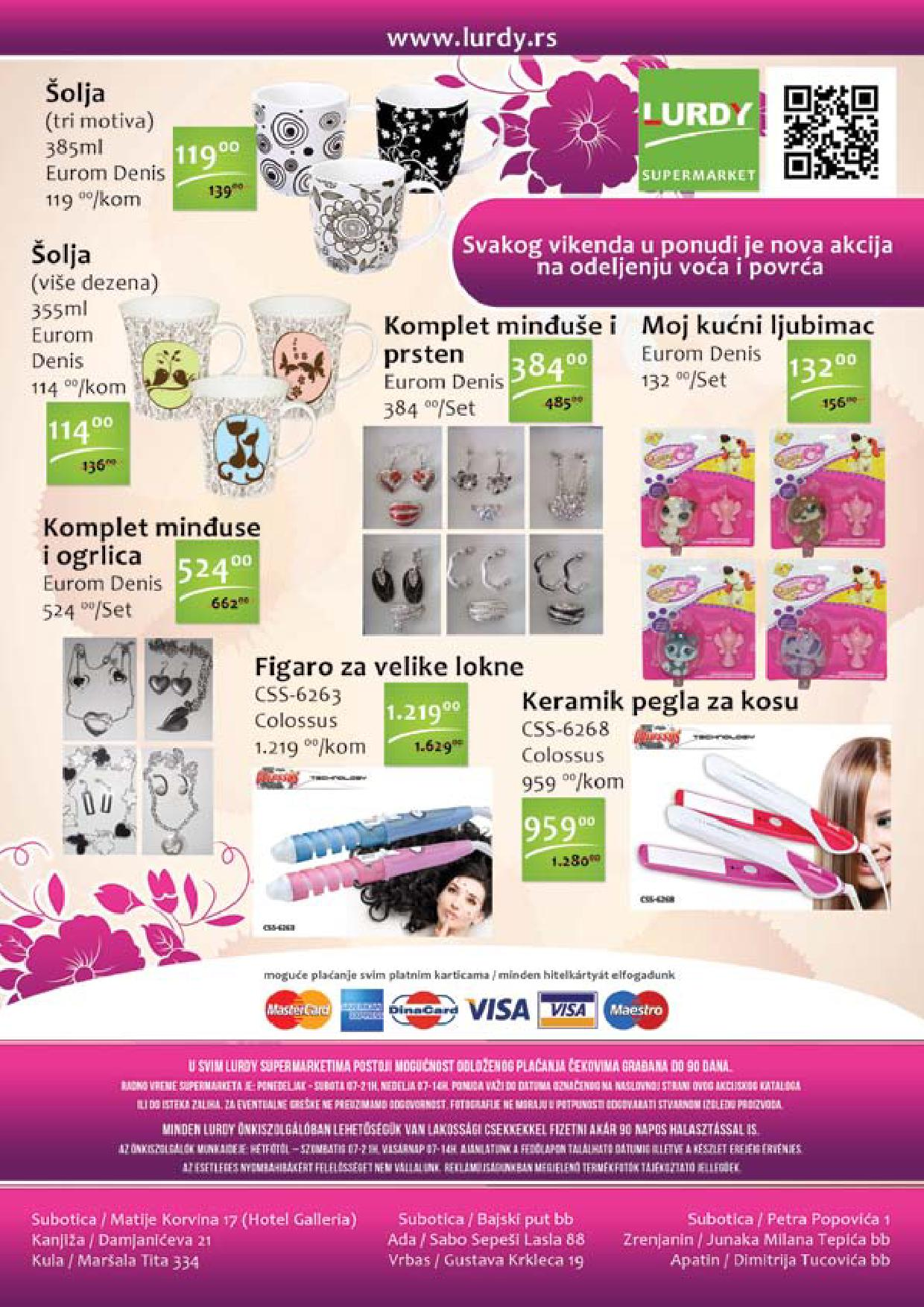 Lurdy katalog odlčnih cena