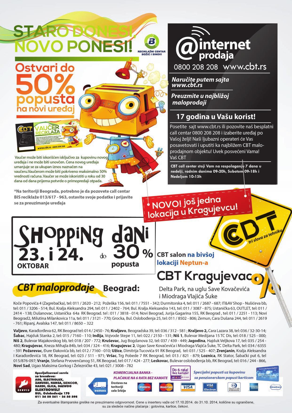 CBT akcija oktobarske rasprodaje