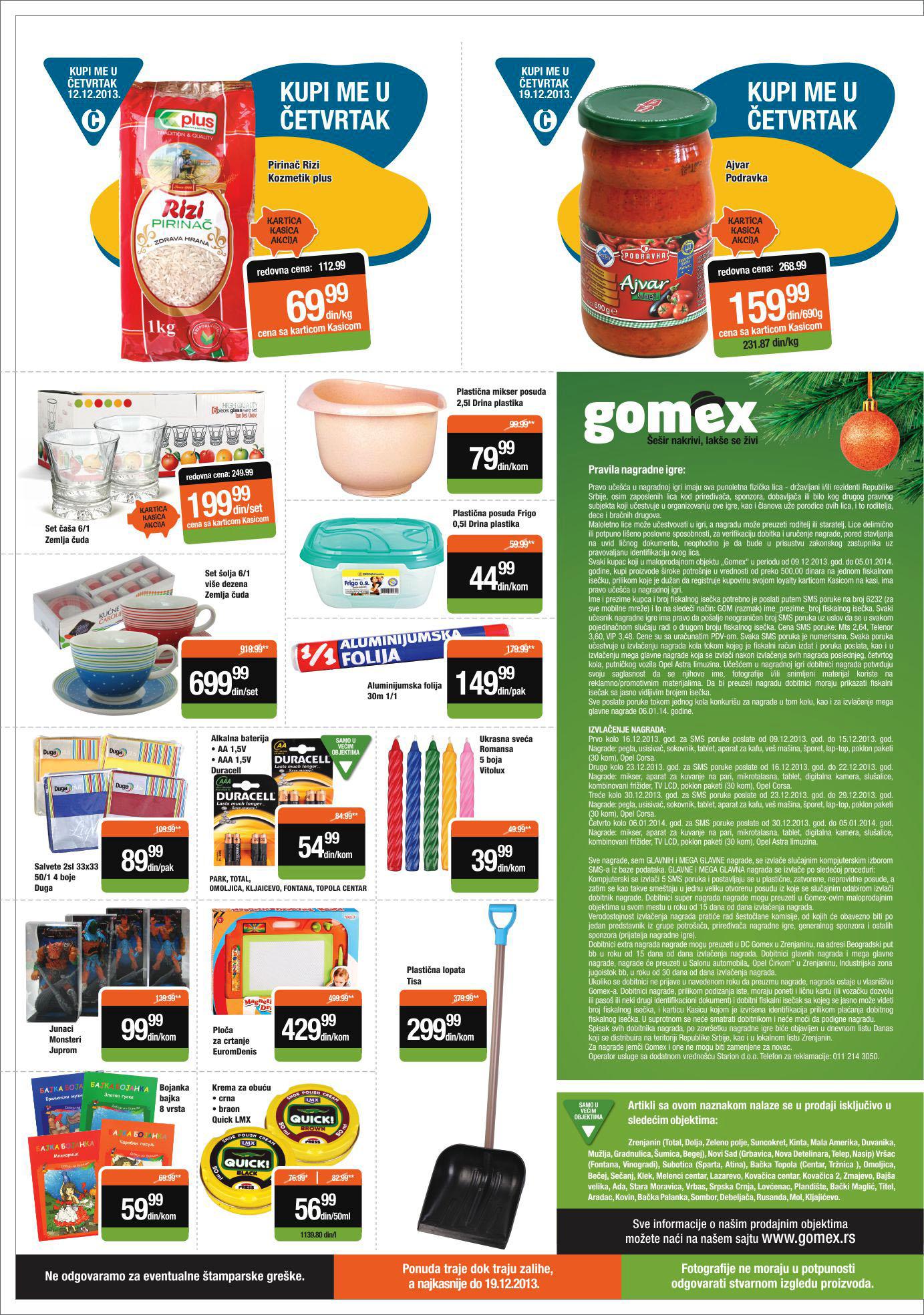 Gomex katalog super cena