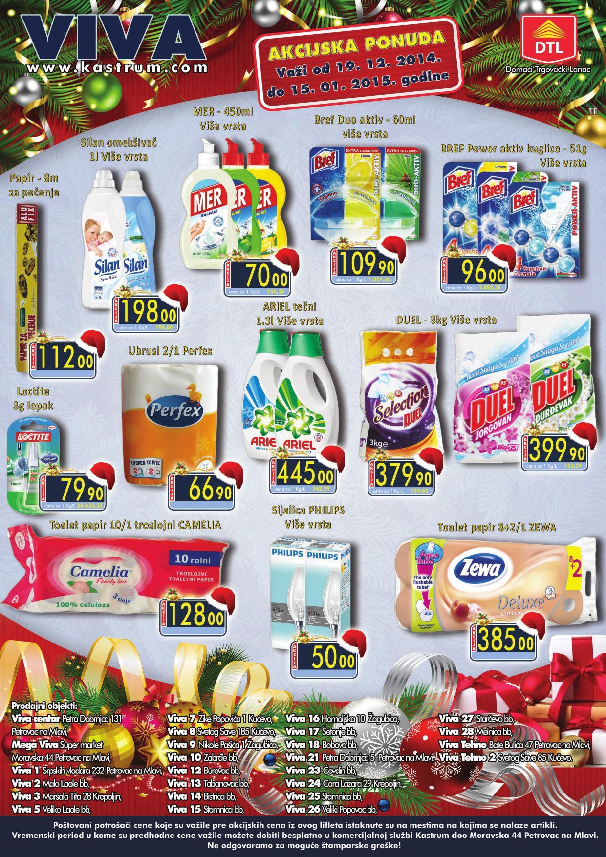 Kastrum akcija novogodišnje kupovine