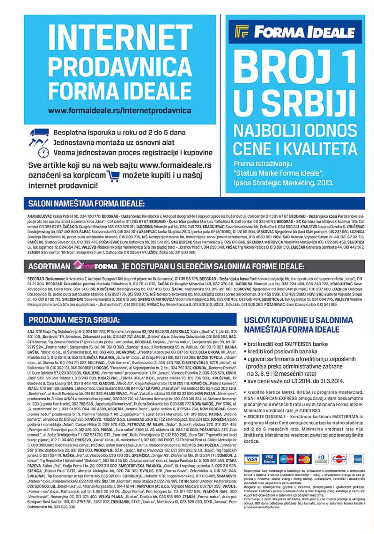Forma Ideale katalog odlične ponude za vas