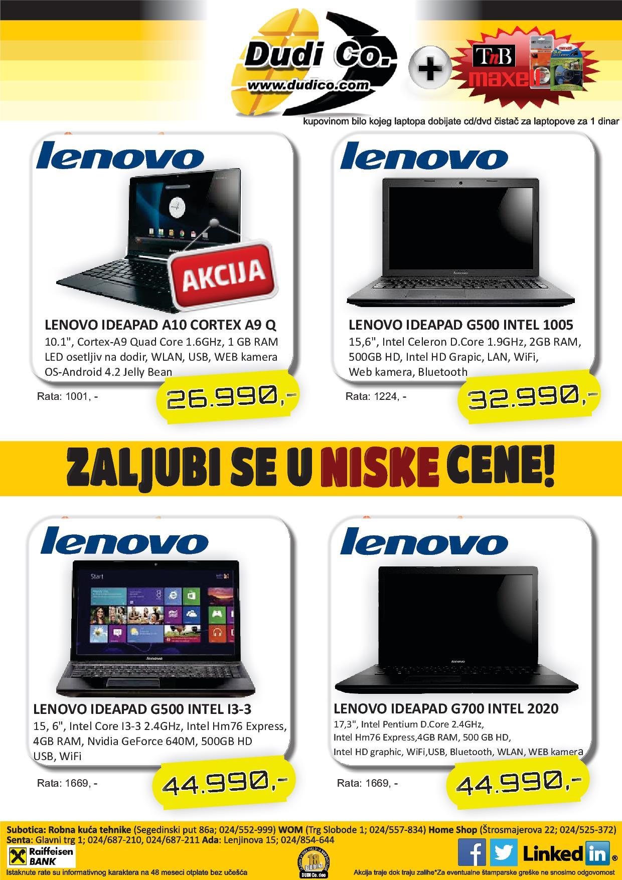 Dudico akcija laptop uređaji na sniženju
