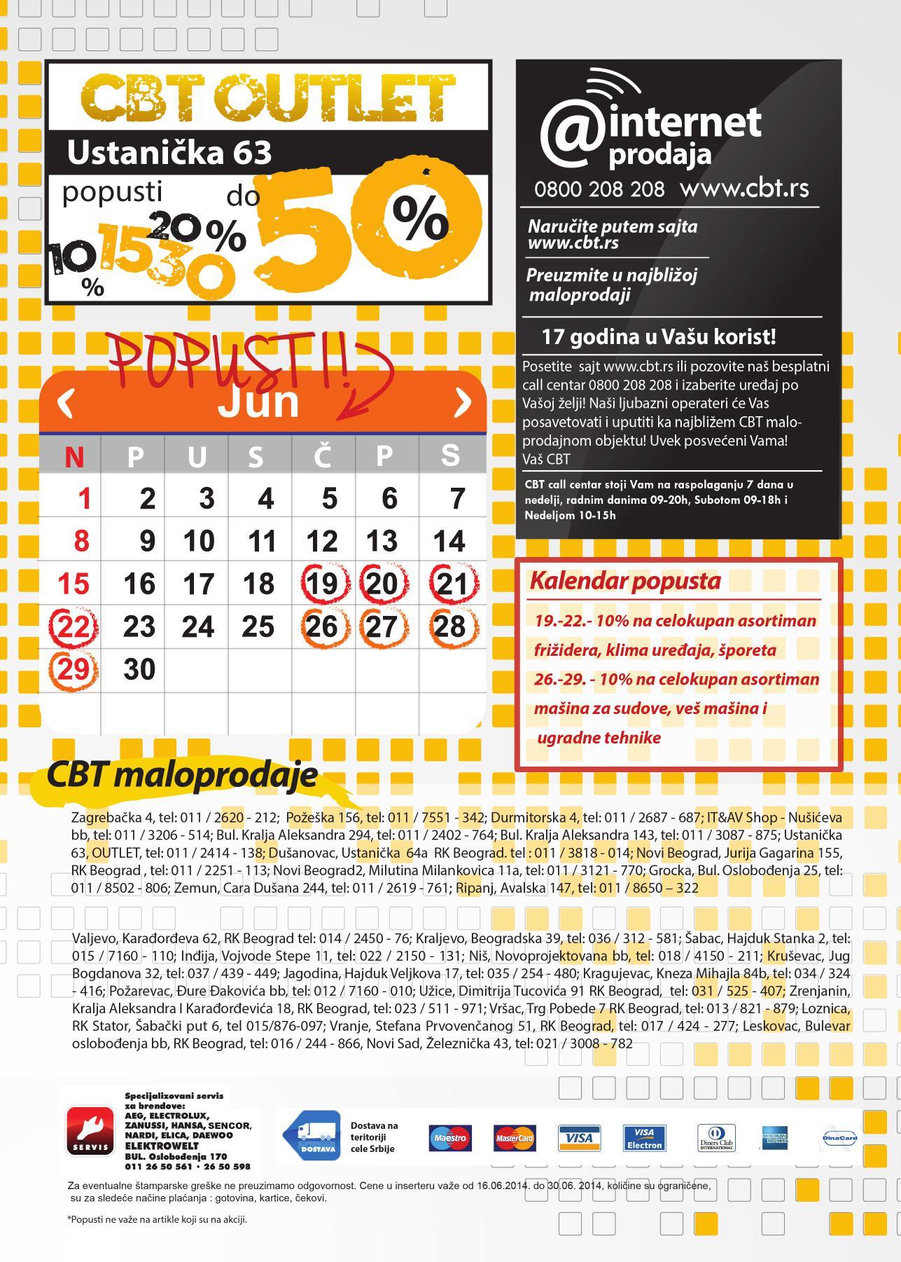 CBT akcija junska rasprodaja