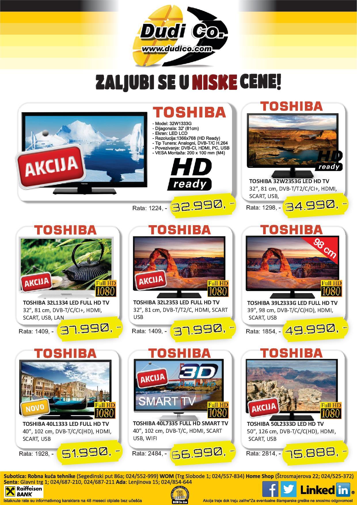 Dudico akcija super ponuda TV uređaja