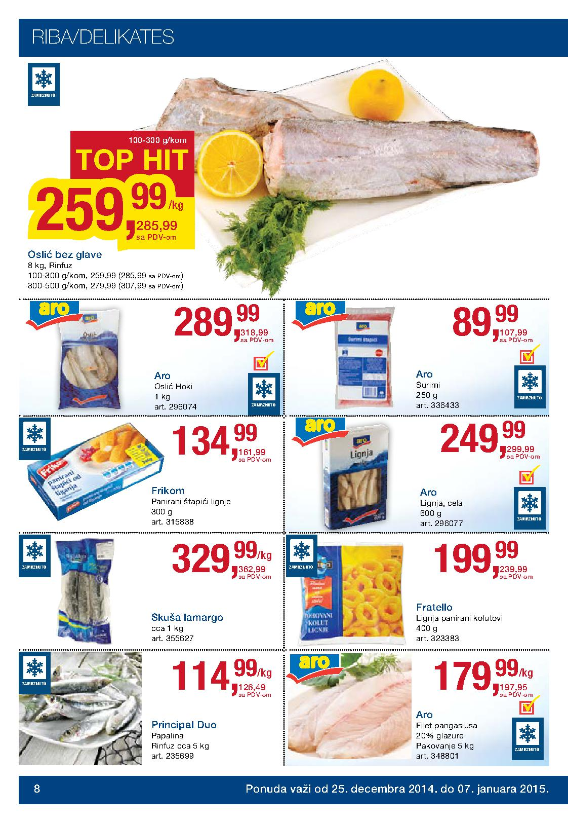 Metro akcija praznična kupovina prehrane