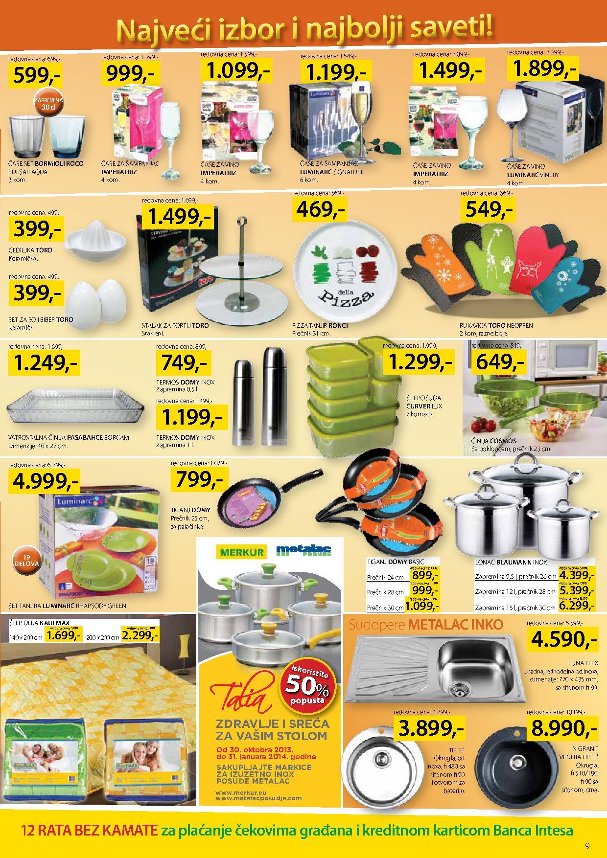 Merkur katalog novogodišnja akcija sve za vaš dom