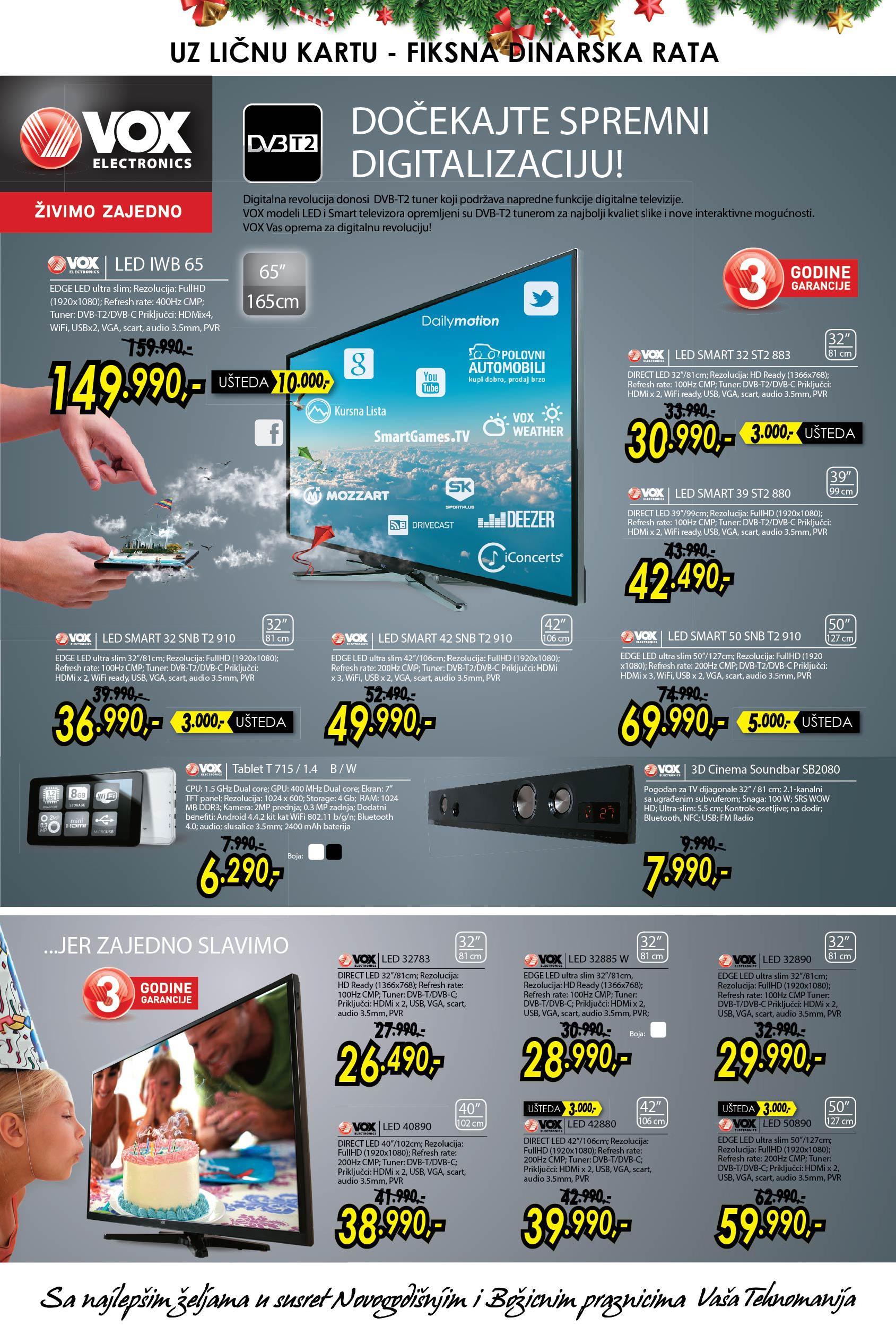 Tehnomanija akcija TV aparati na sniženju