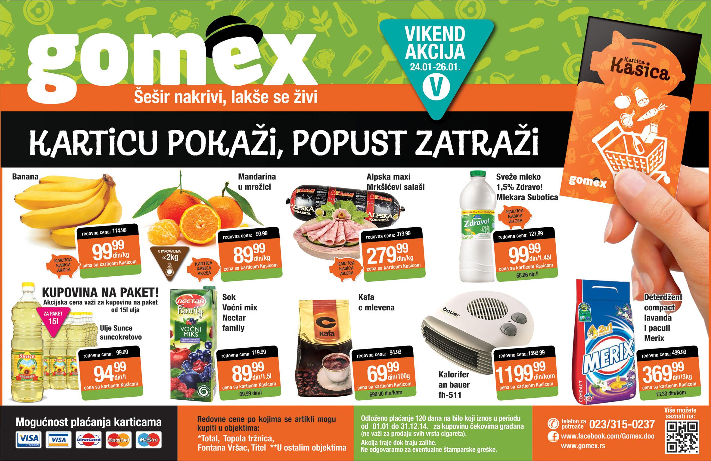 Gomex katalog vikend odlične ponude samo za vas