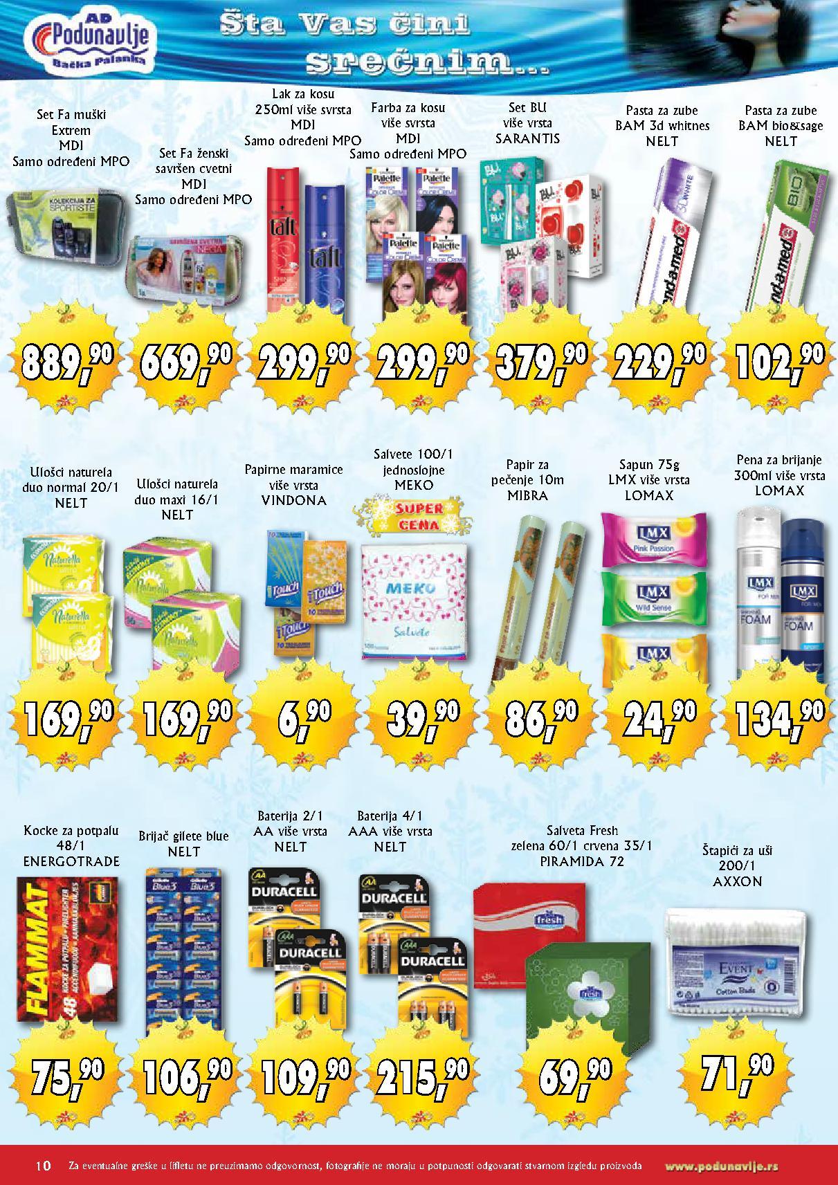 AD Podunavlje akcija novogodišnje kupovine