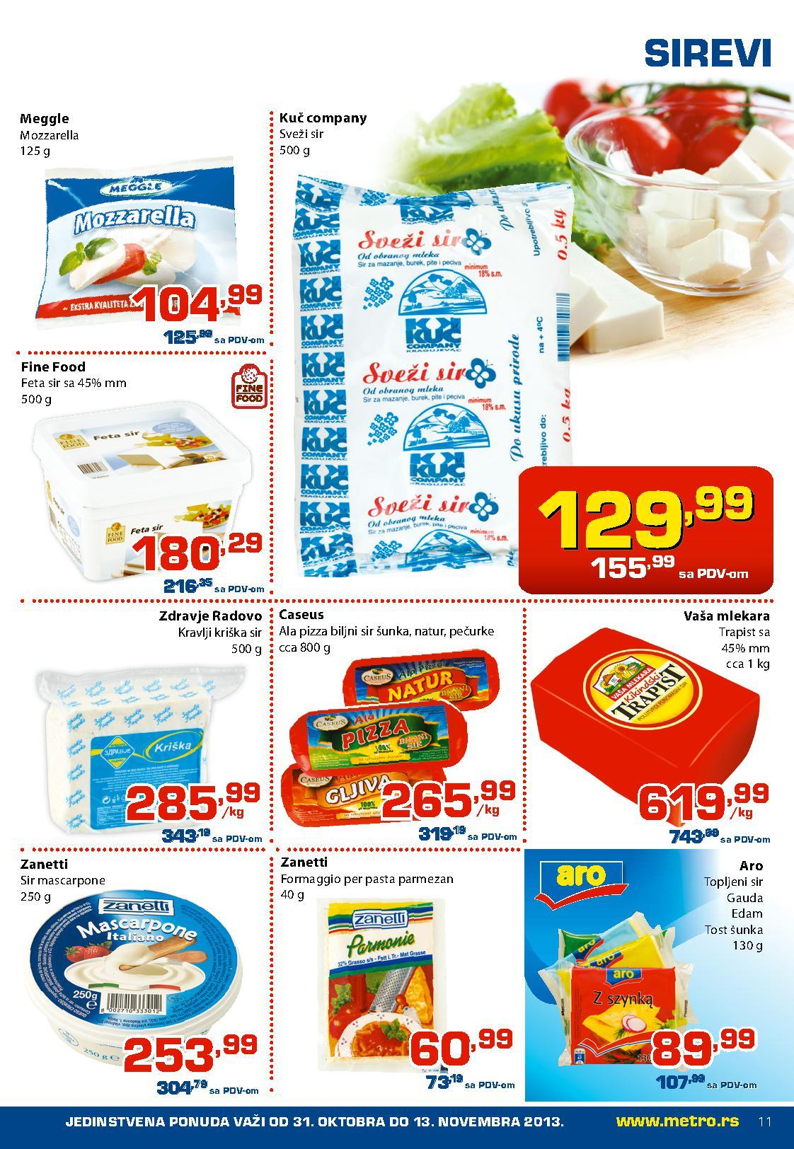 Metro katalog prehrana super cana