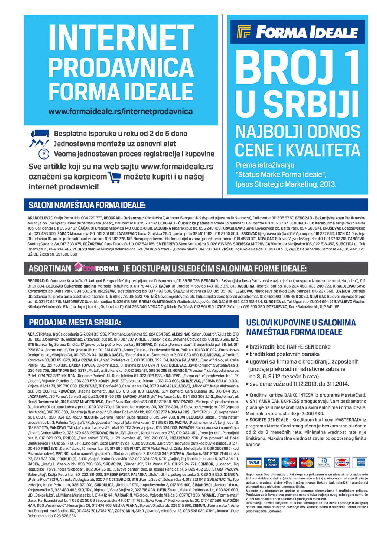 Forma Ideale katalog novogodišnje ponude