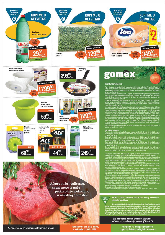 Gomex katalog novogodišnja ponuda