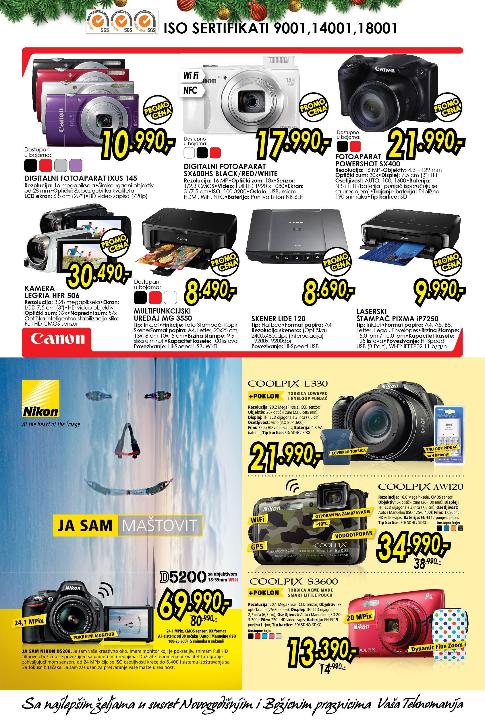 Tehnomanija akcija računari i fotoaparati