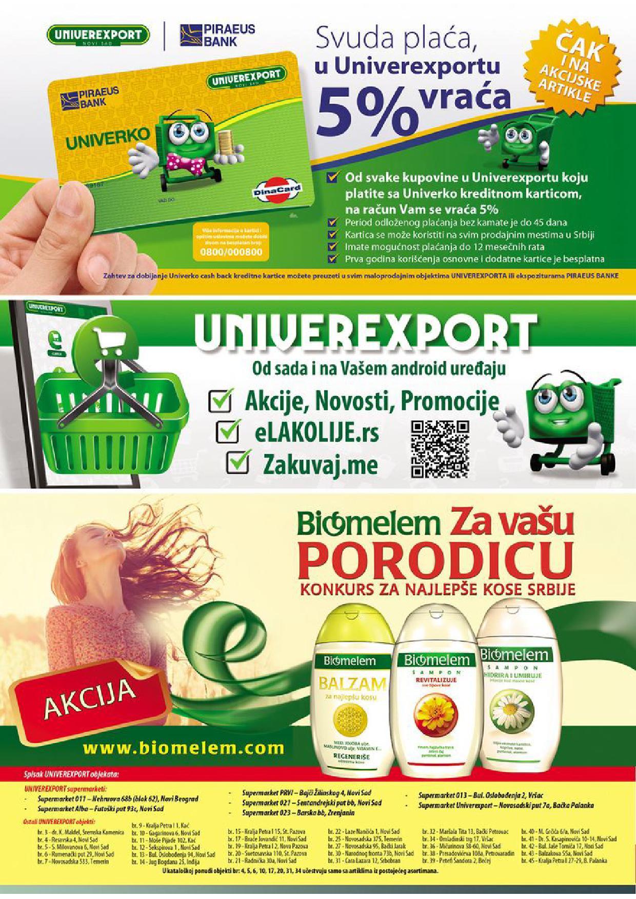 Univerexport katalog super ponude
