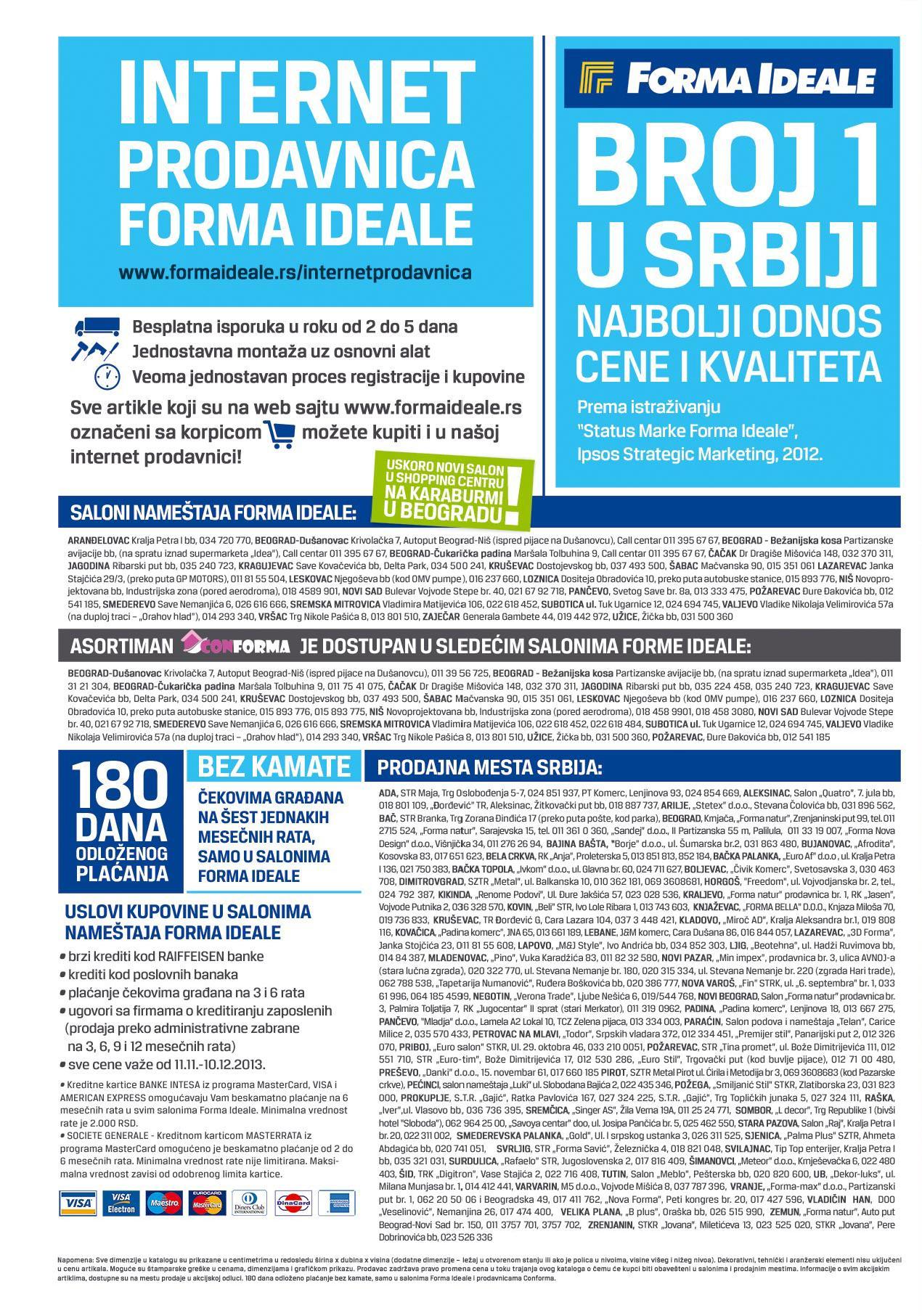 Forma Ideale katalog odlične ponude